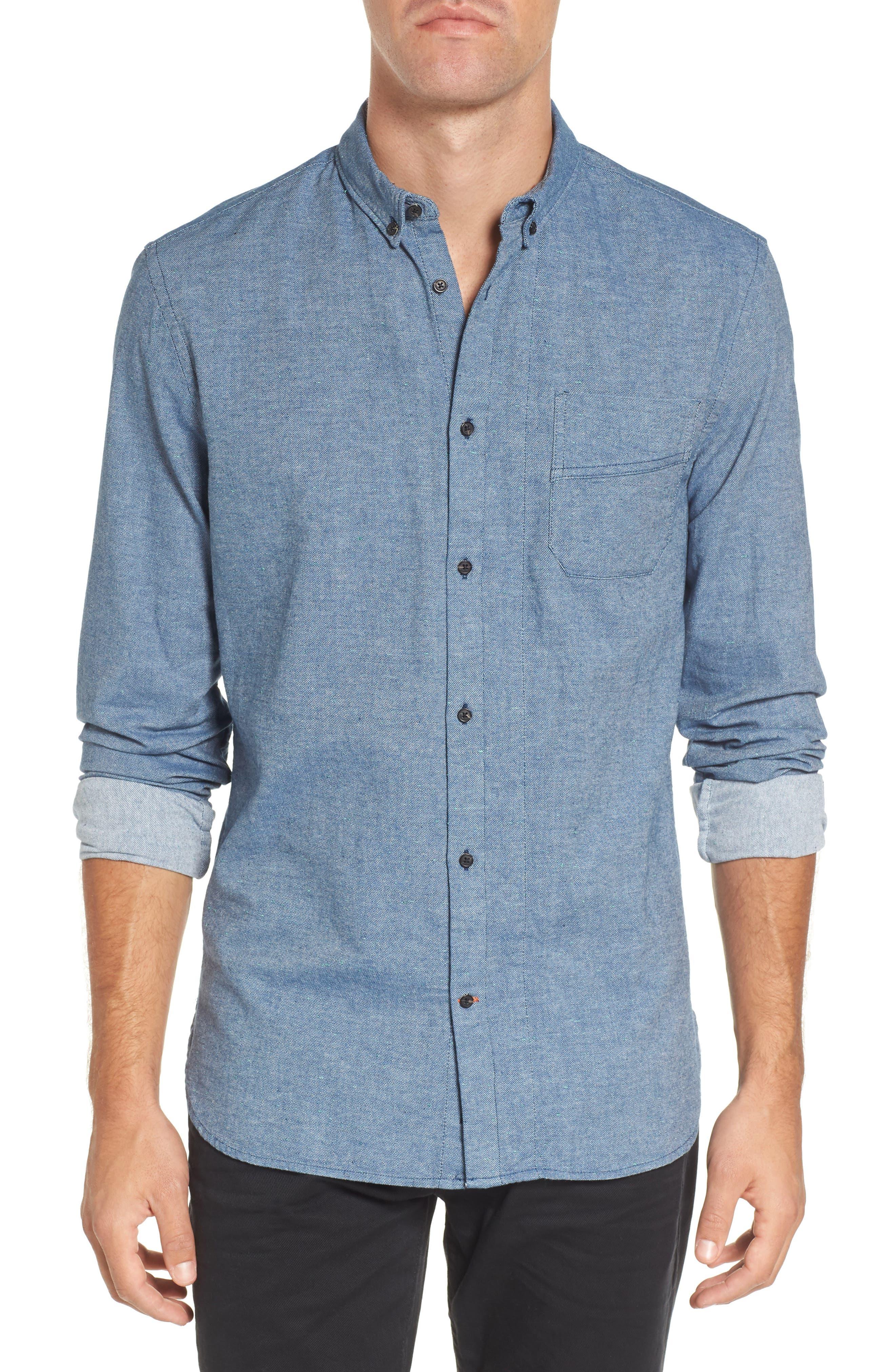Chambray Shirt,                             Main thumbnail 2, color,