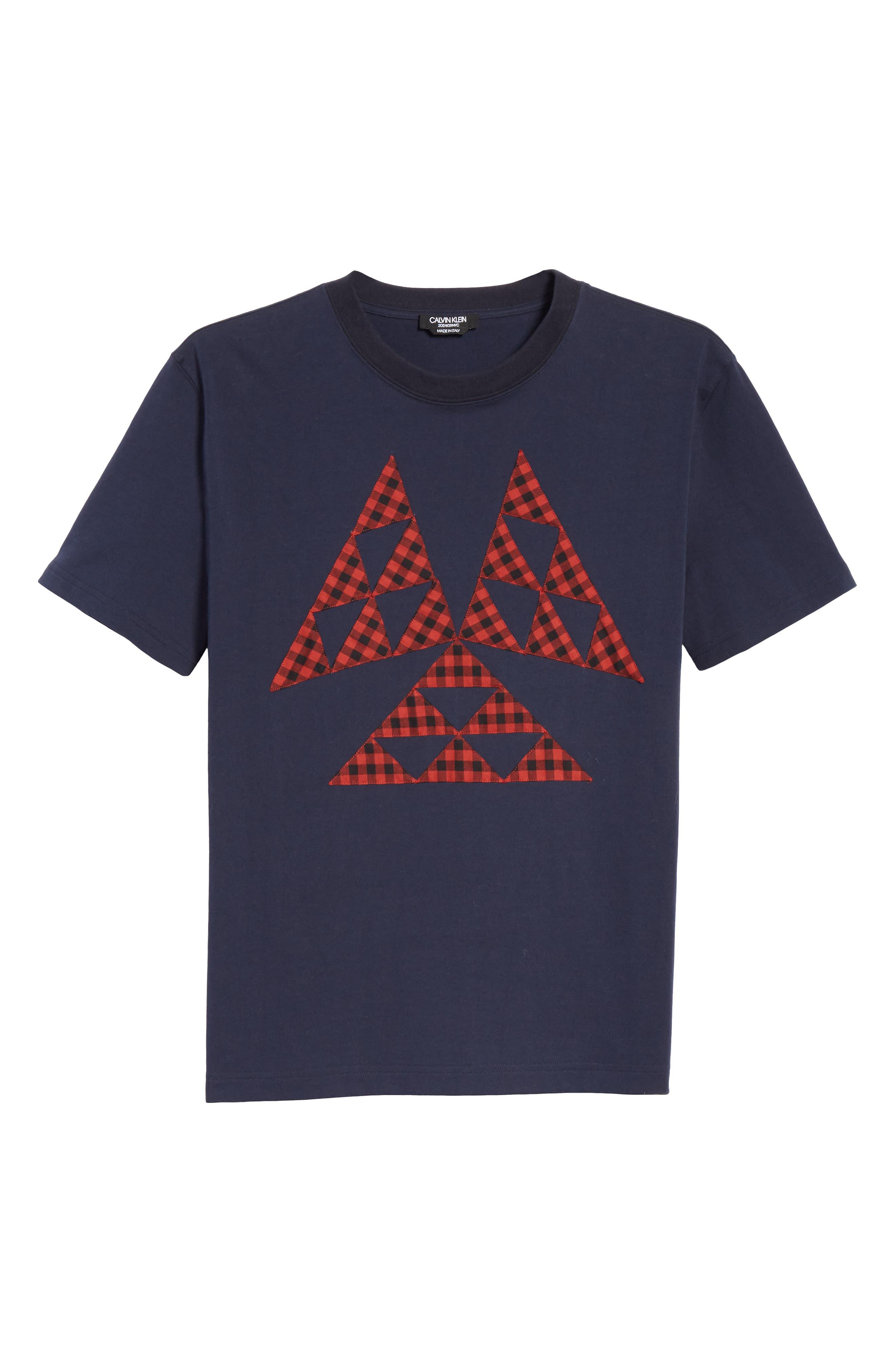 Patchwork T-Shirt,                             Alternate thumbnail 6, color,                             NAVY
