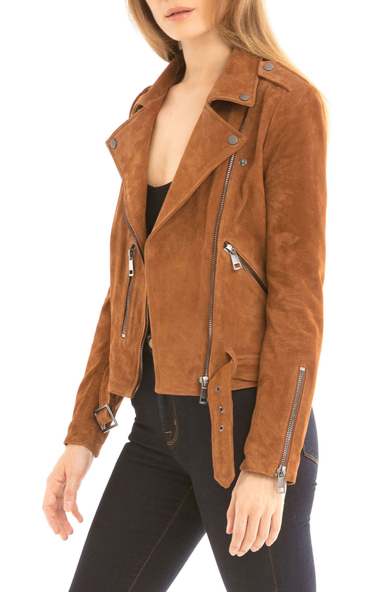 NYC  Suede Jacket,                             Alternate thumbnail 4, color,                             200