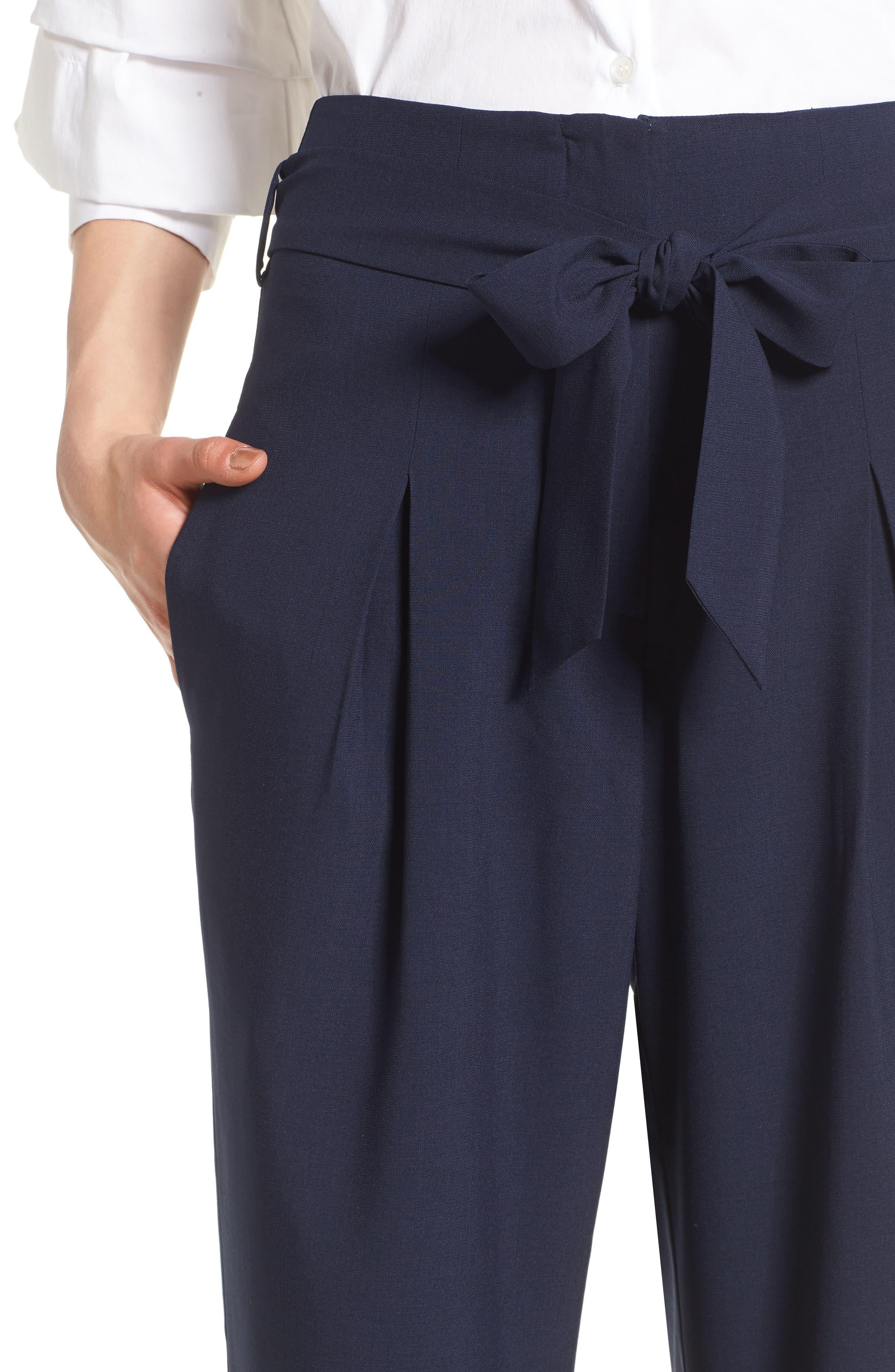 Tie Front Pants,                             Alternate thumbnail 4, color,                             411