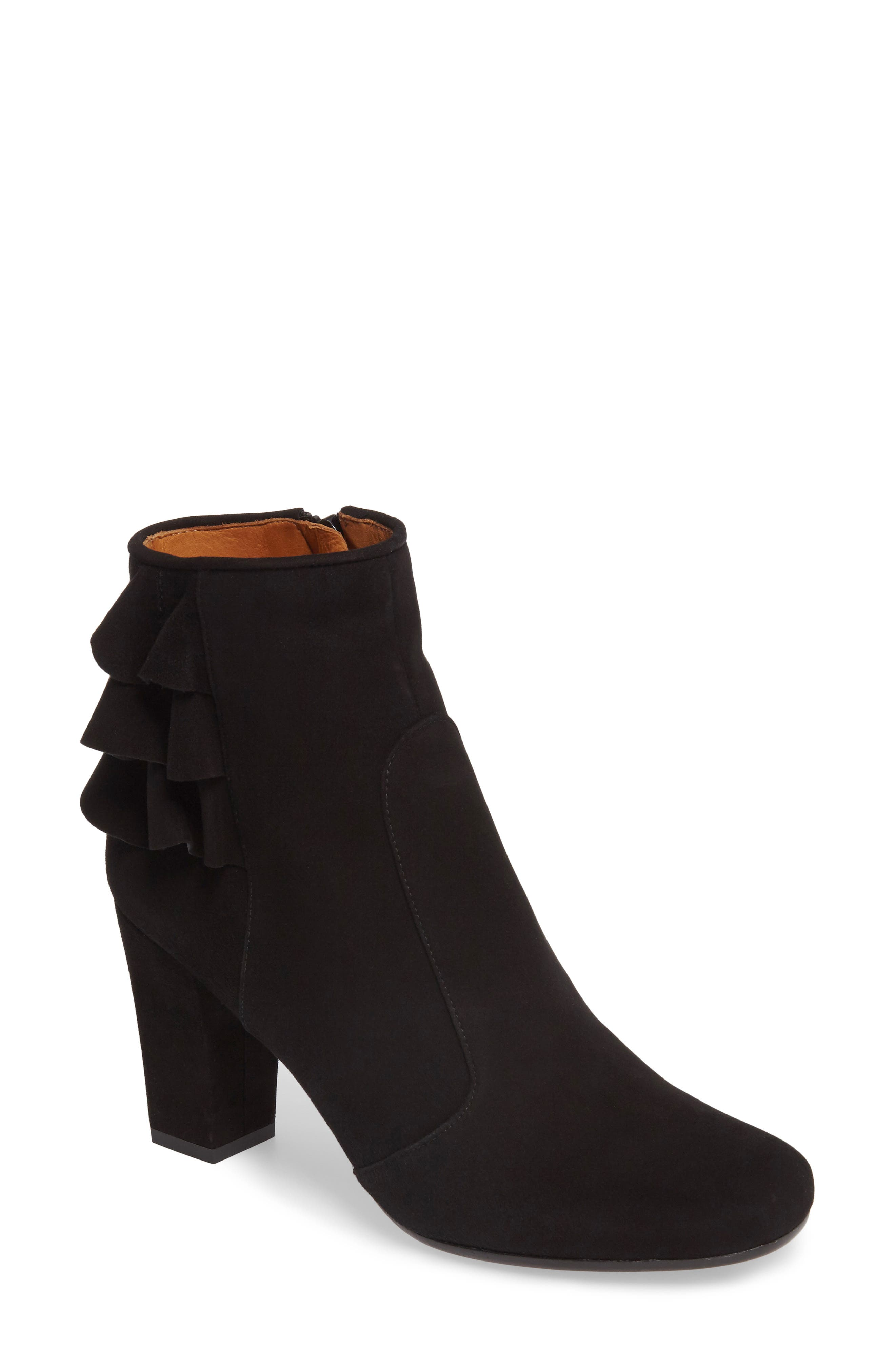 Acha Ruffle Bootie,                         Main,                         color, 001