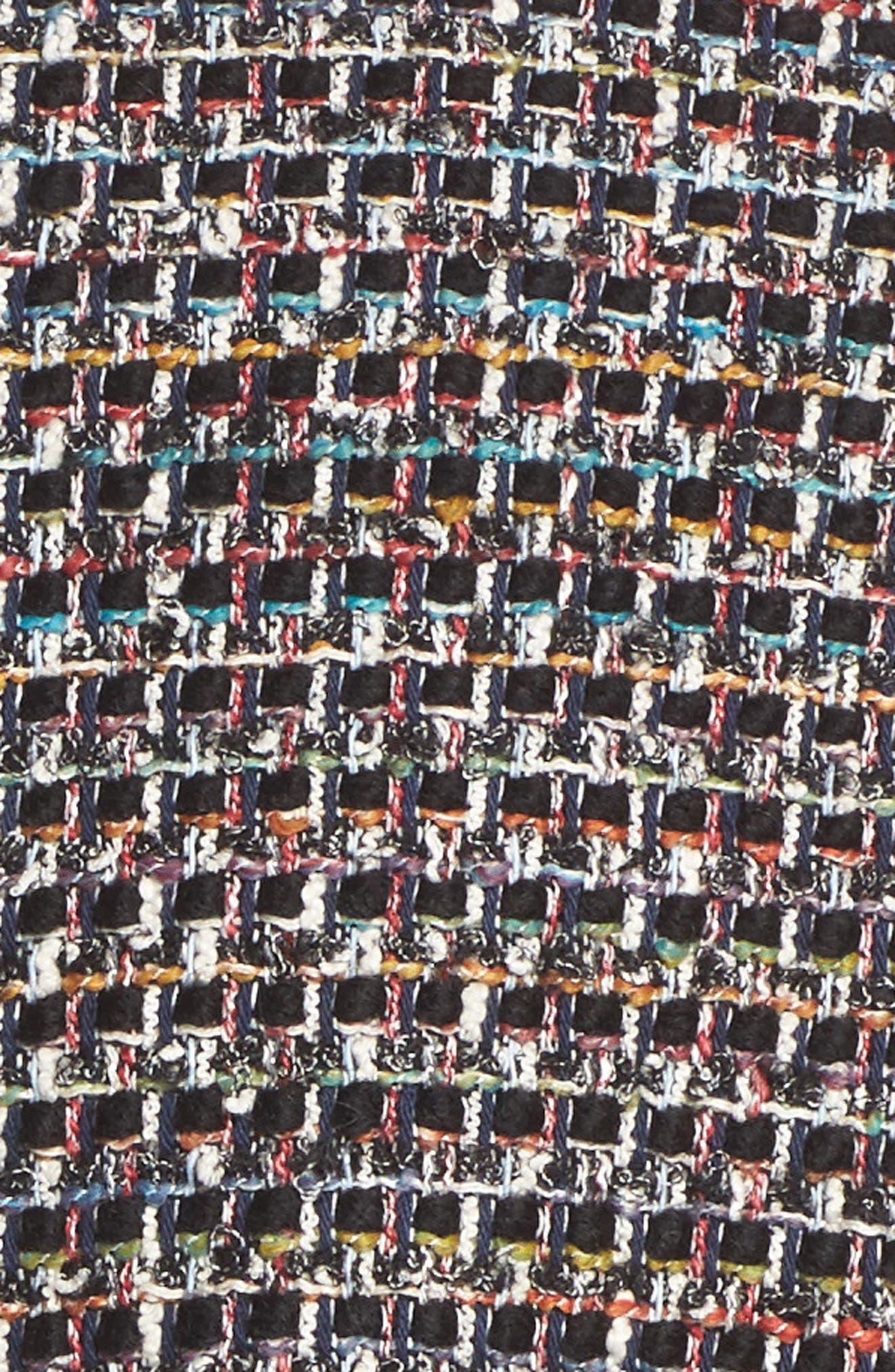 Carla Bouclé Jacket,                             Alternate thumbnail 6, color,                             001