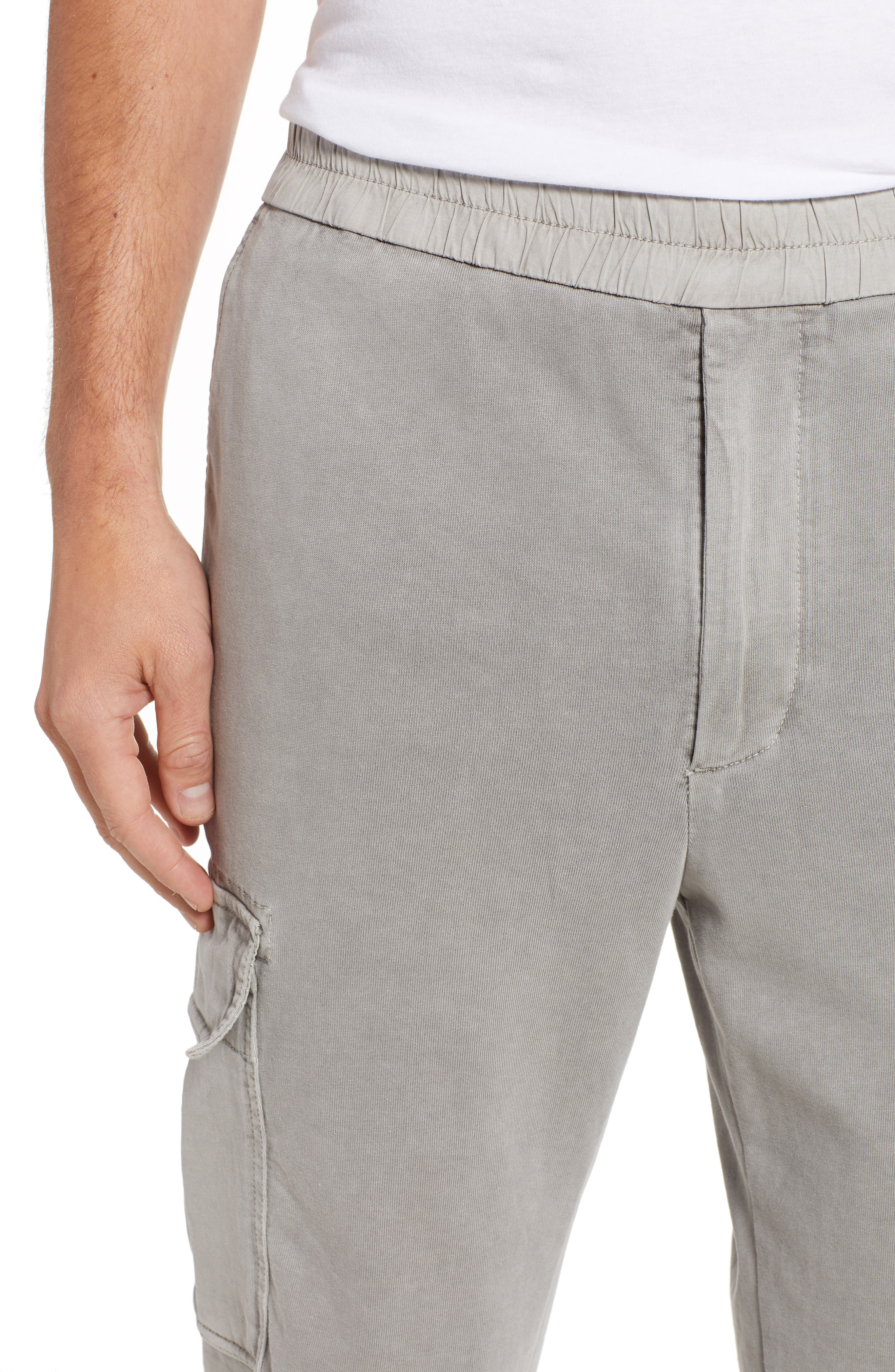 Cotton Jersey Relaxed Fit Cargo Pants,                             Alternate thumbnail 4, color,                             056