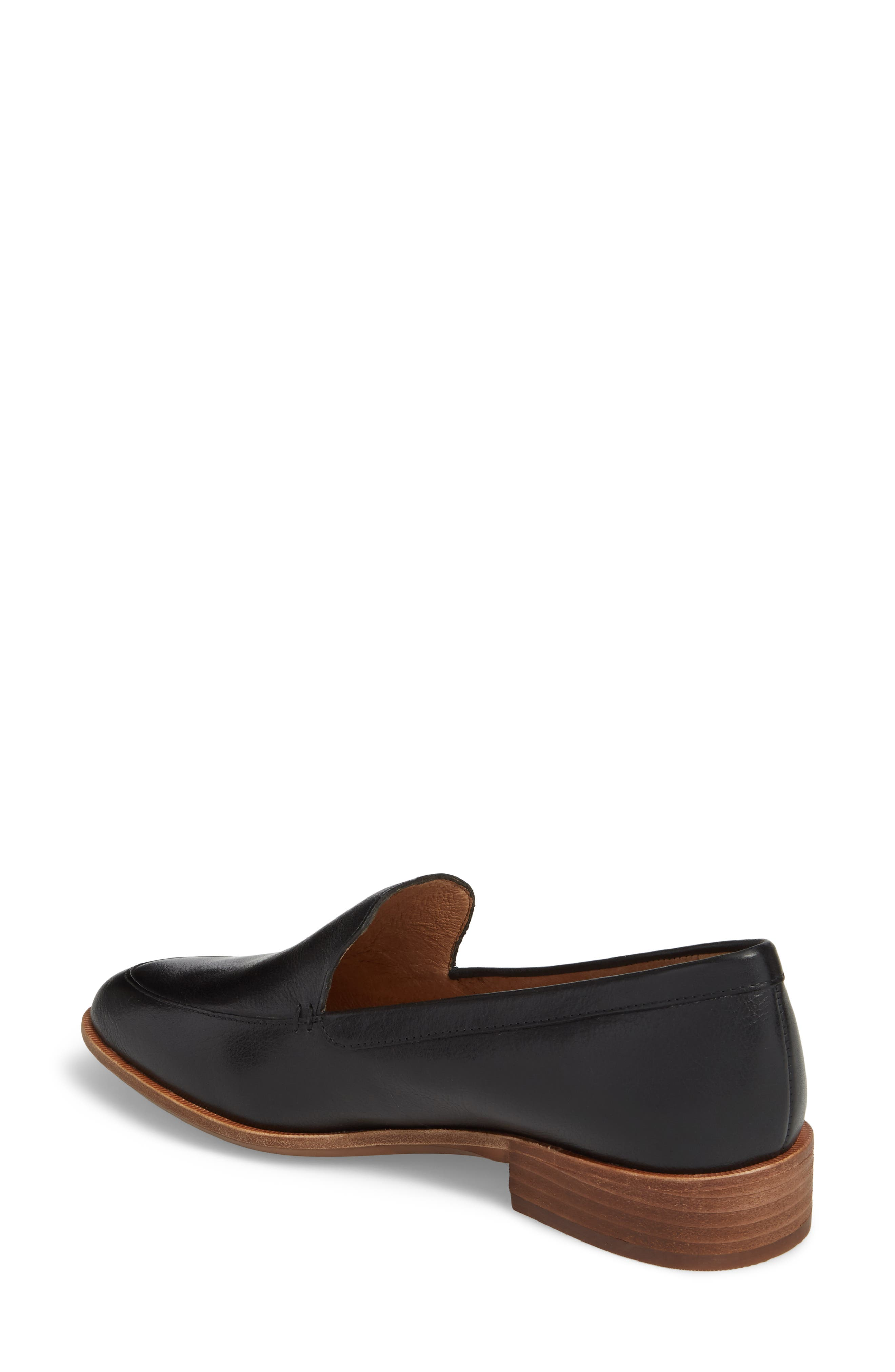 MADEWELL,                             The Frances Loafer,                             Alternate thumbnail 2, color,                             TRUE BLACK LEATHER