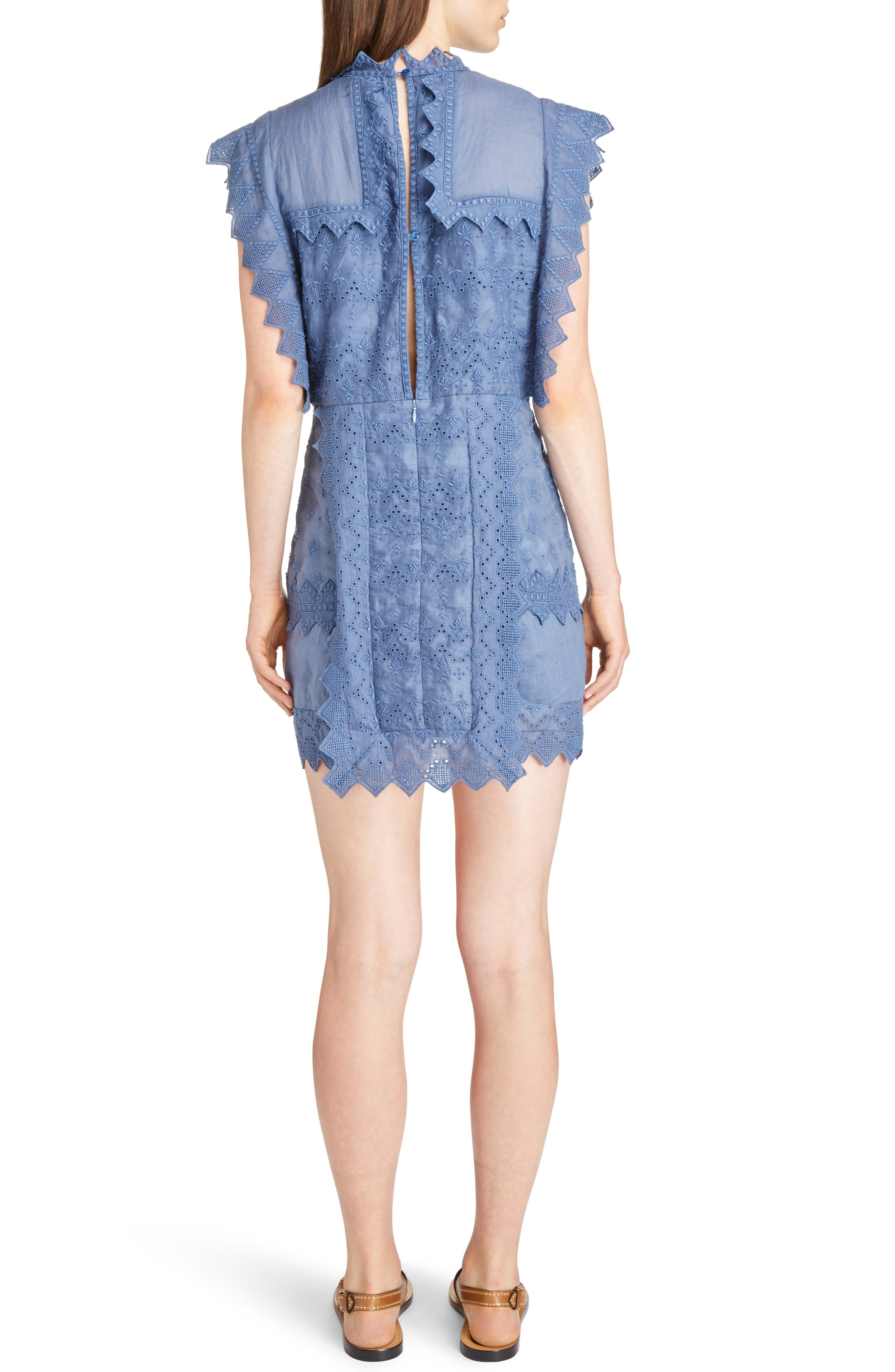Nubia Embroidered Eyelet Dress,                             Alternate thumbnail 2, color,                             400