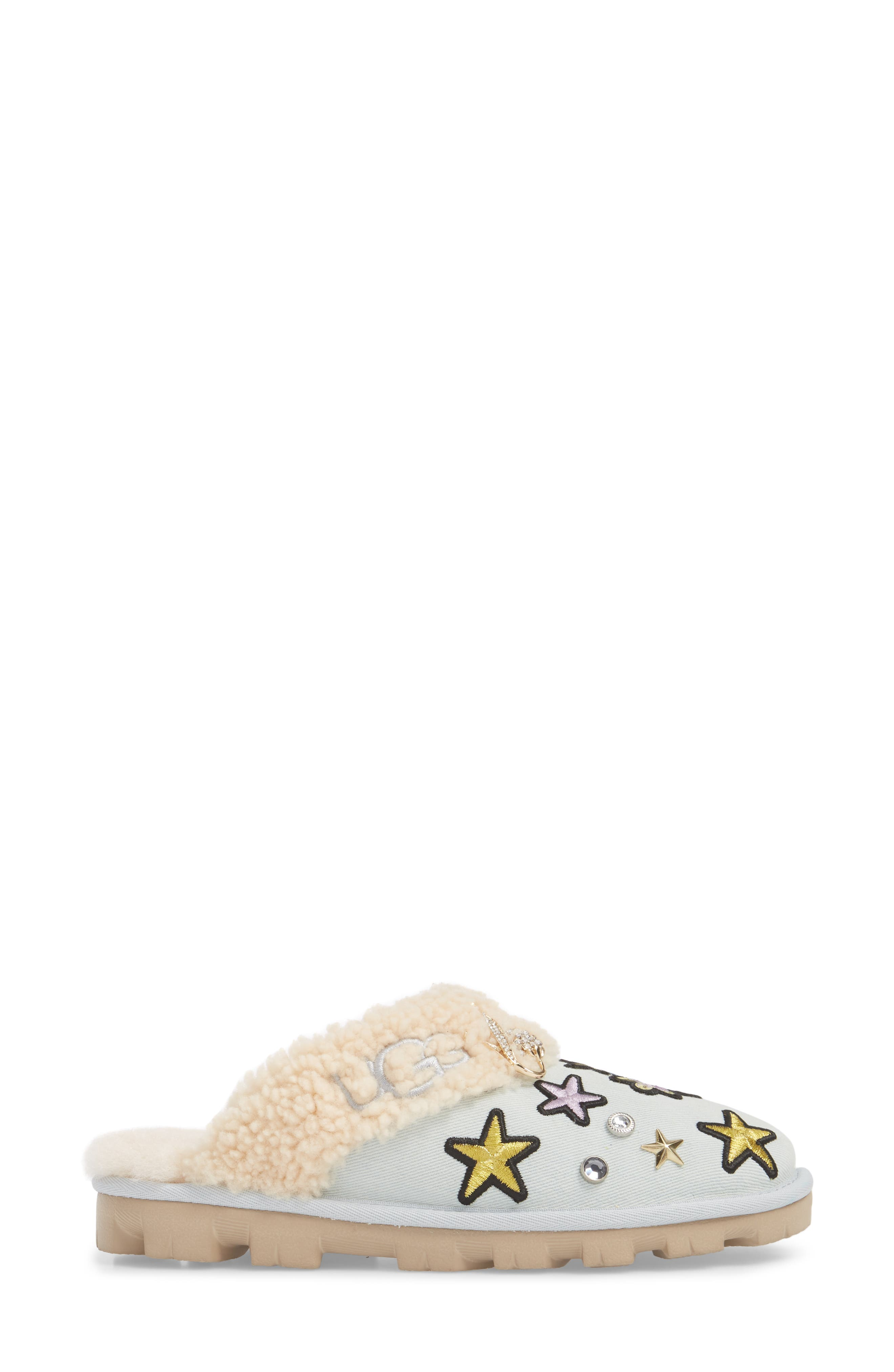 Patch It Slipper with Genuine Shearling Trim,                             Alternate thumbnail 3, color,                             452