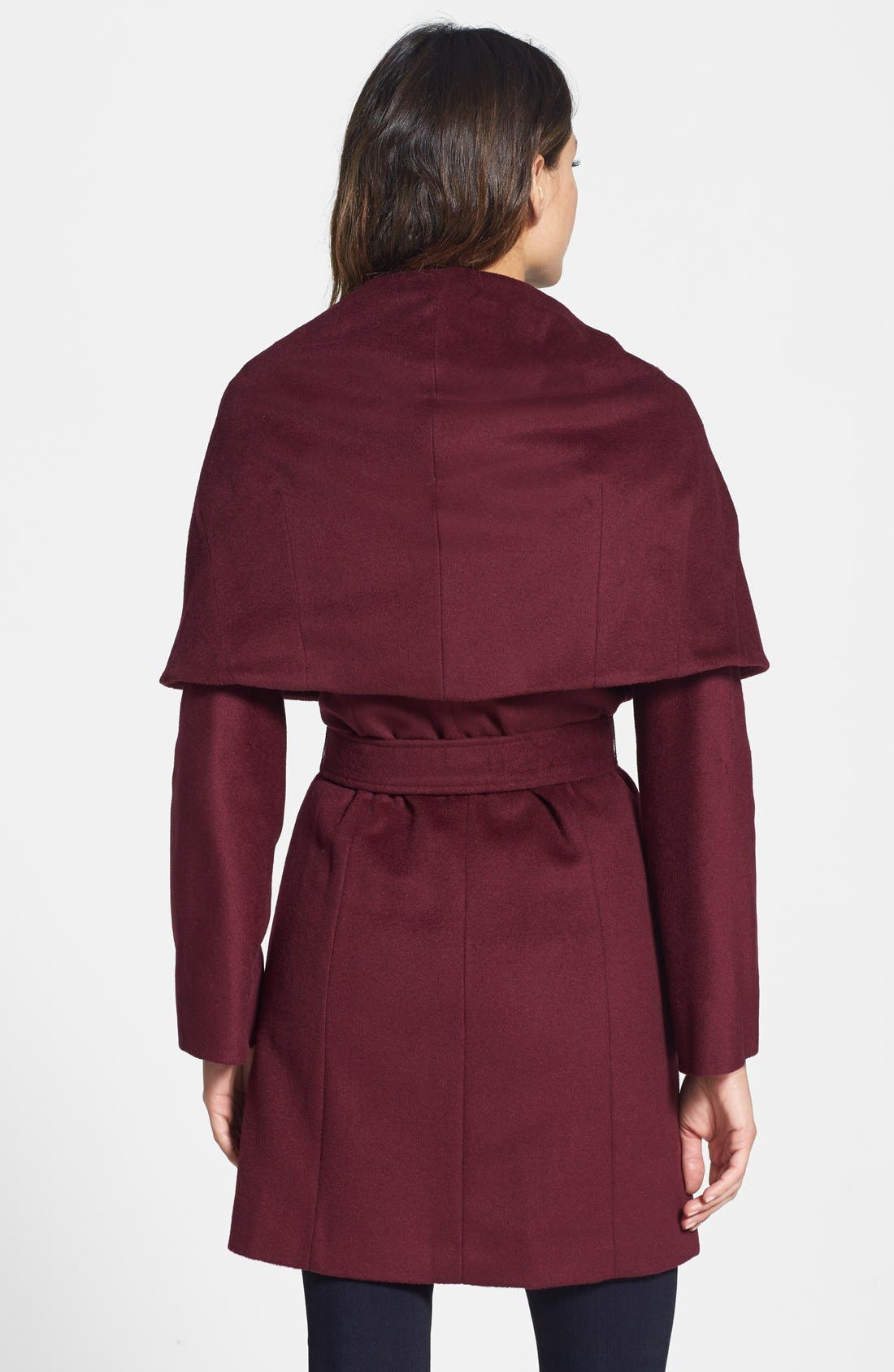 T Tahari Wool Blend Belted Wrap Coat,                             Alternate thumbnail 20, color,