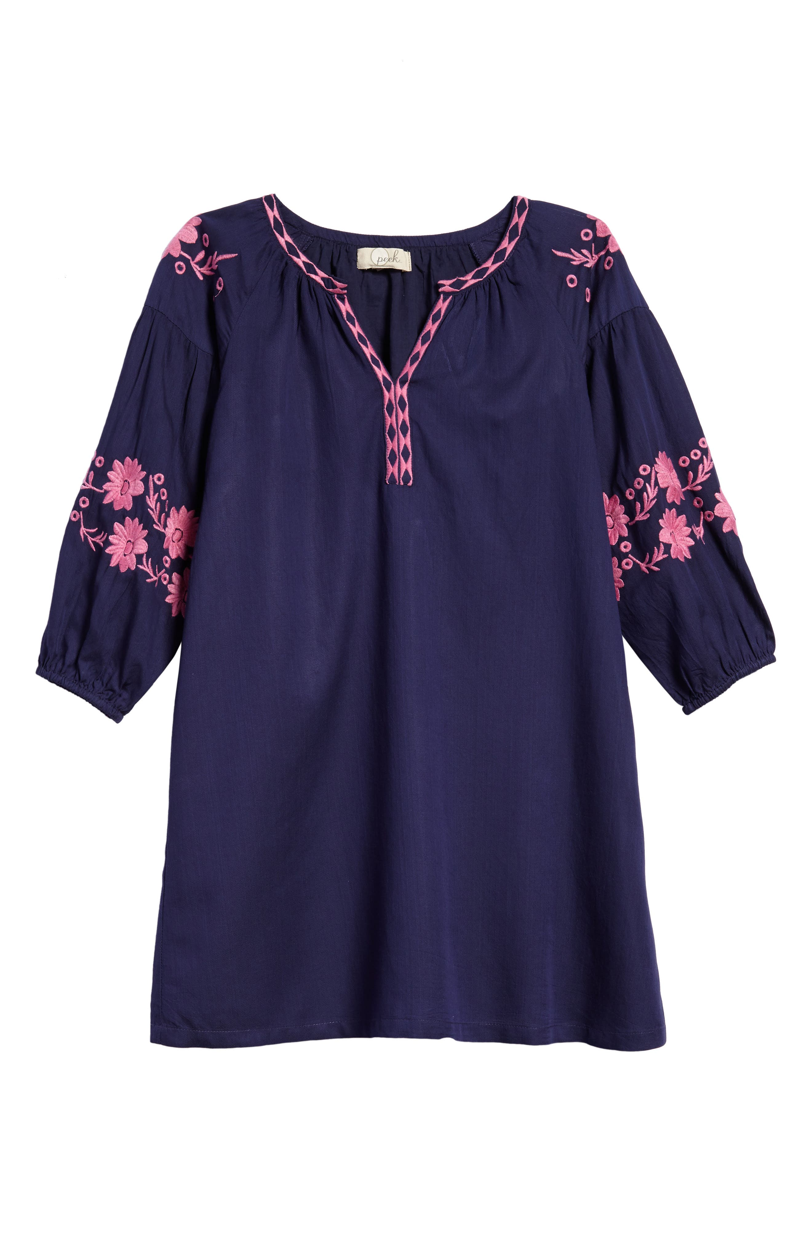 Lidia Embroidered Dress,                         Main,                         color, 400