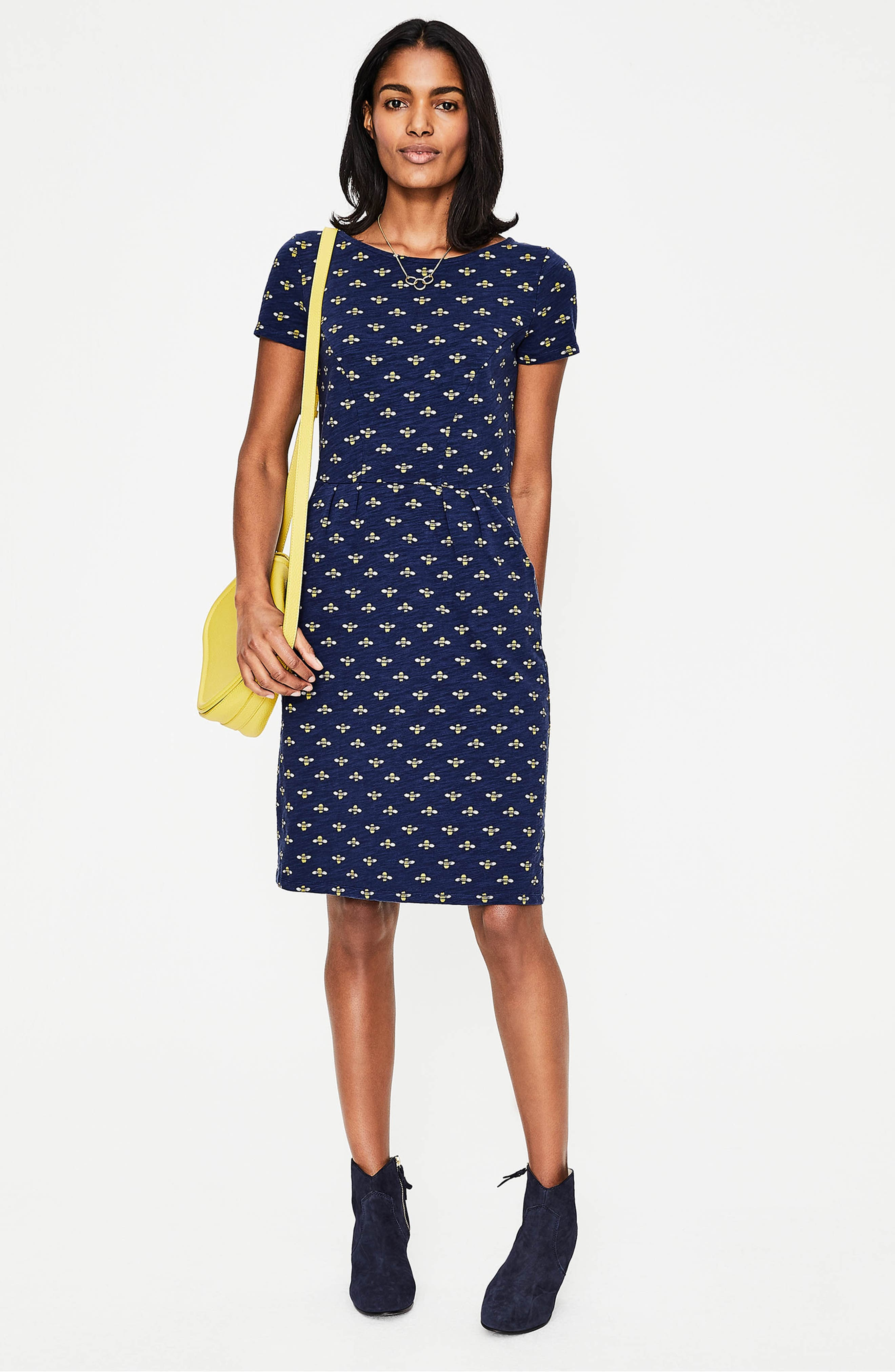 Phoebe Bird Print Jersey Dress,                             Alternate thumbnail 7, color,