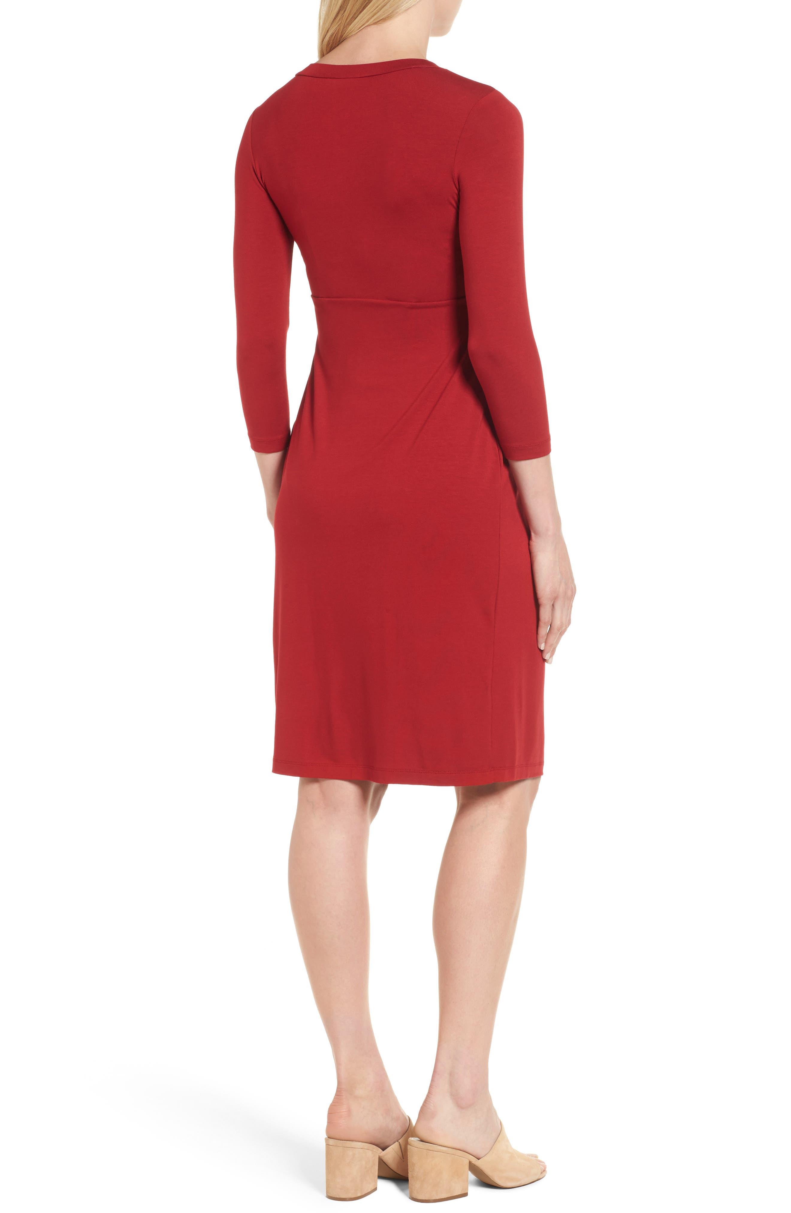 ISABELLA OLIVER,                             Gracia Surplice Maternity Dress,                             Alternate thumbnail 2, color,                             CARDAMOM RED