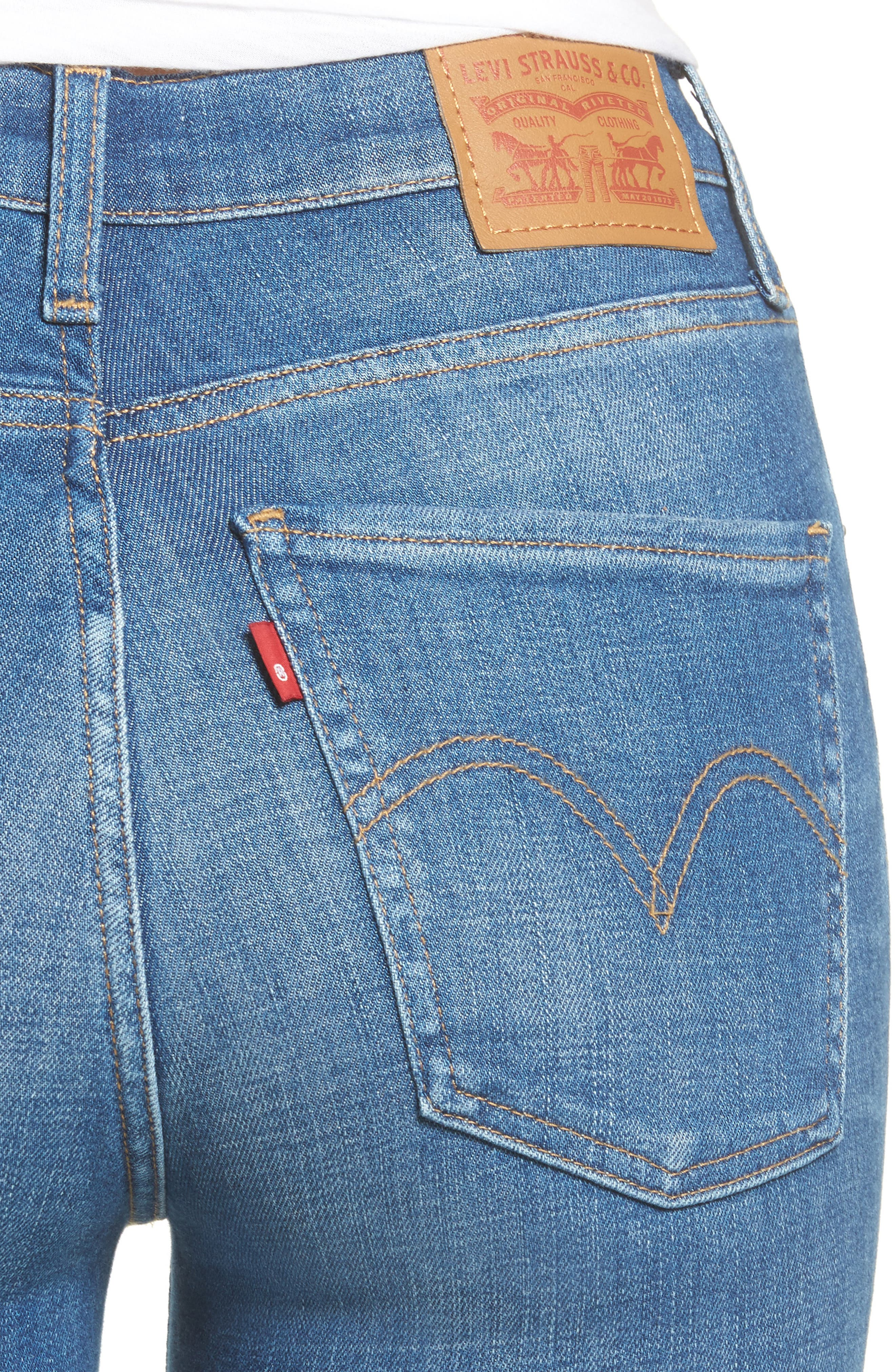 Mile High Skinny Jeans,                             Alternate thumbnail 4, color,
