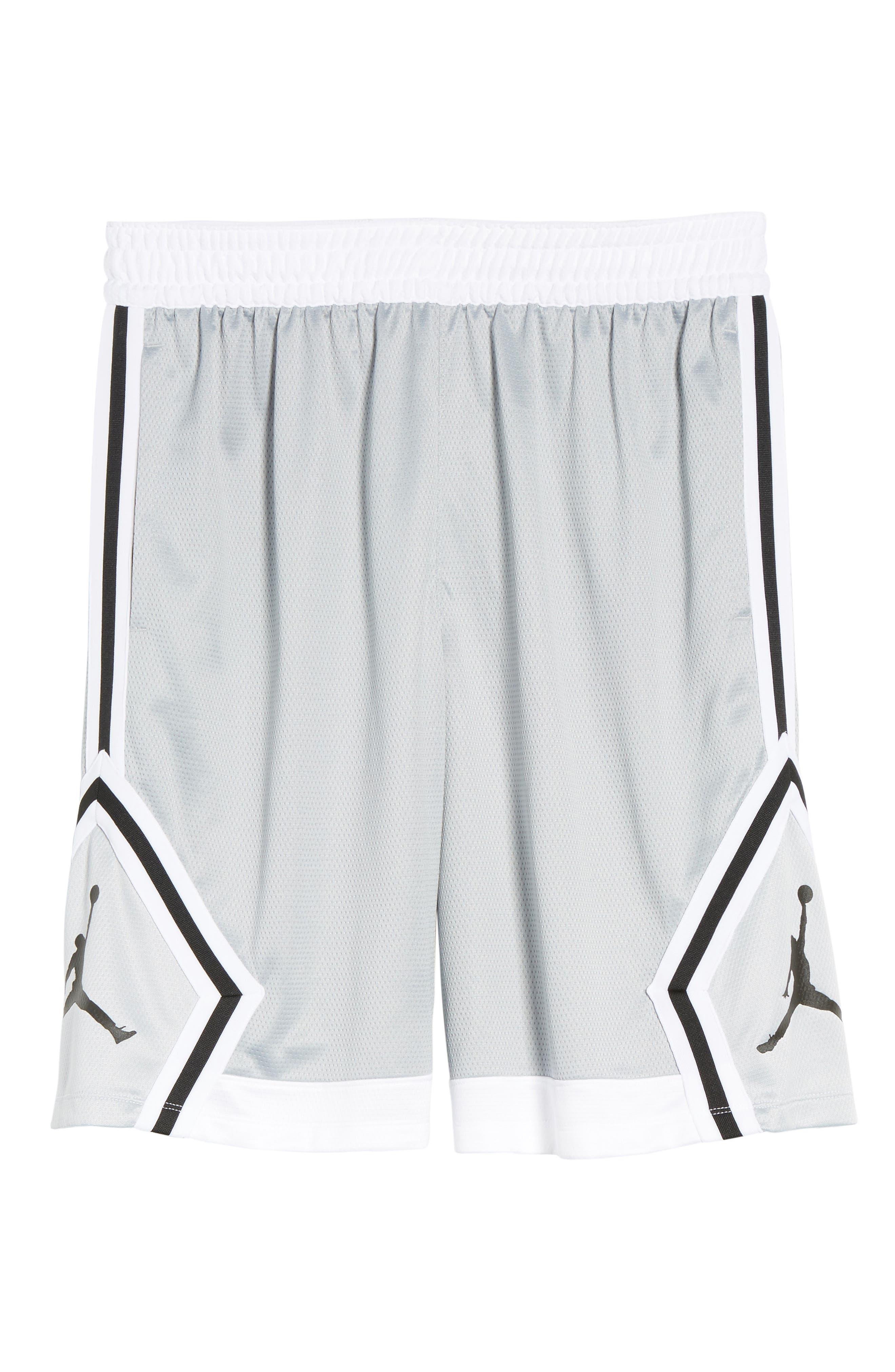 Sportswear Rise Diamond Shorts,                             Alternate thumbnail 6, color,                             011