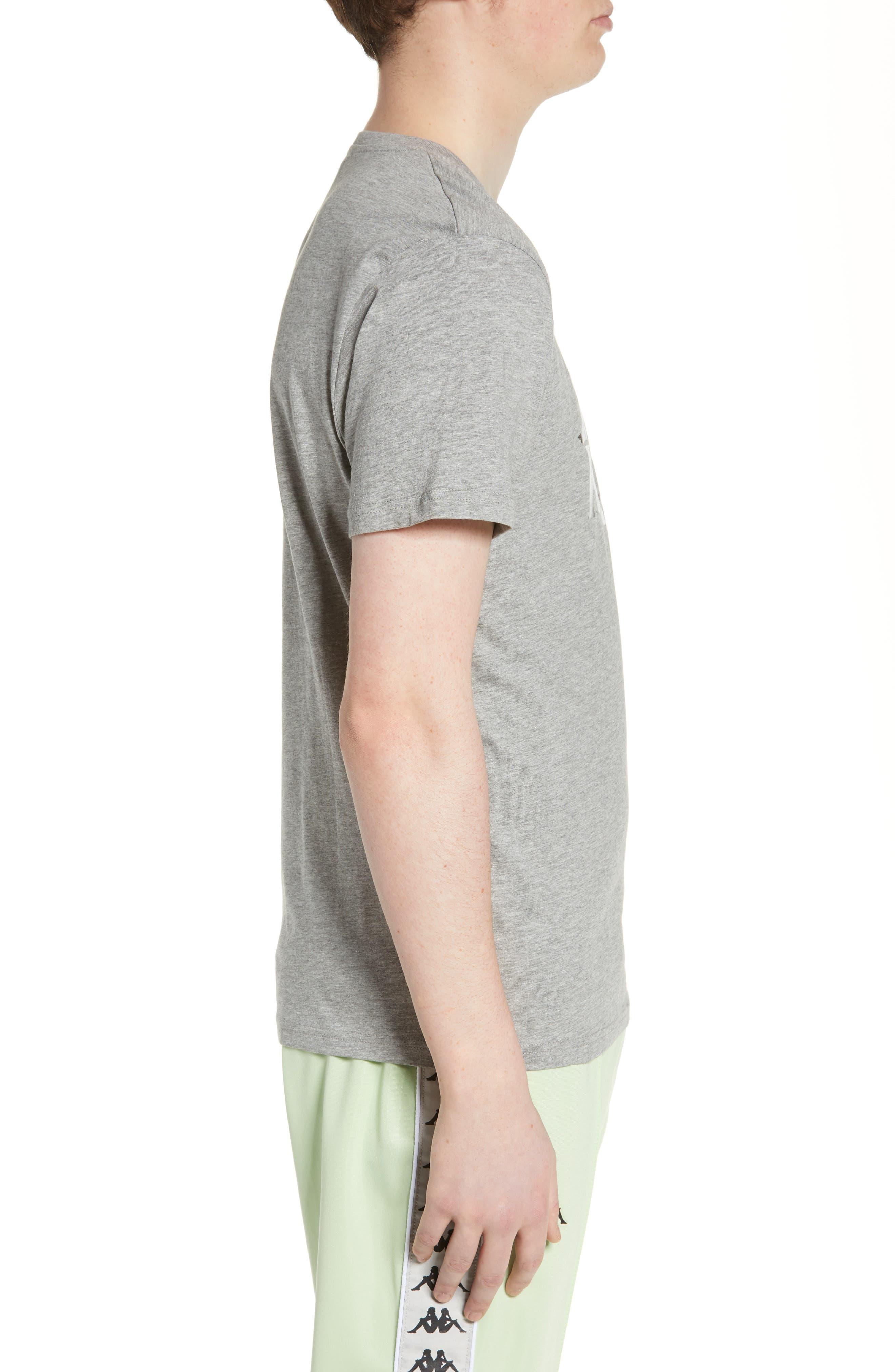 KAPPA,                             Estessi Graphic T-Shirt,                             Alternate thumbnail 3, color,                             HEATHER GREY