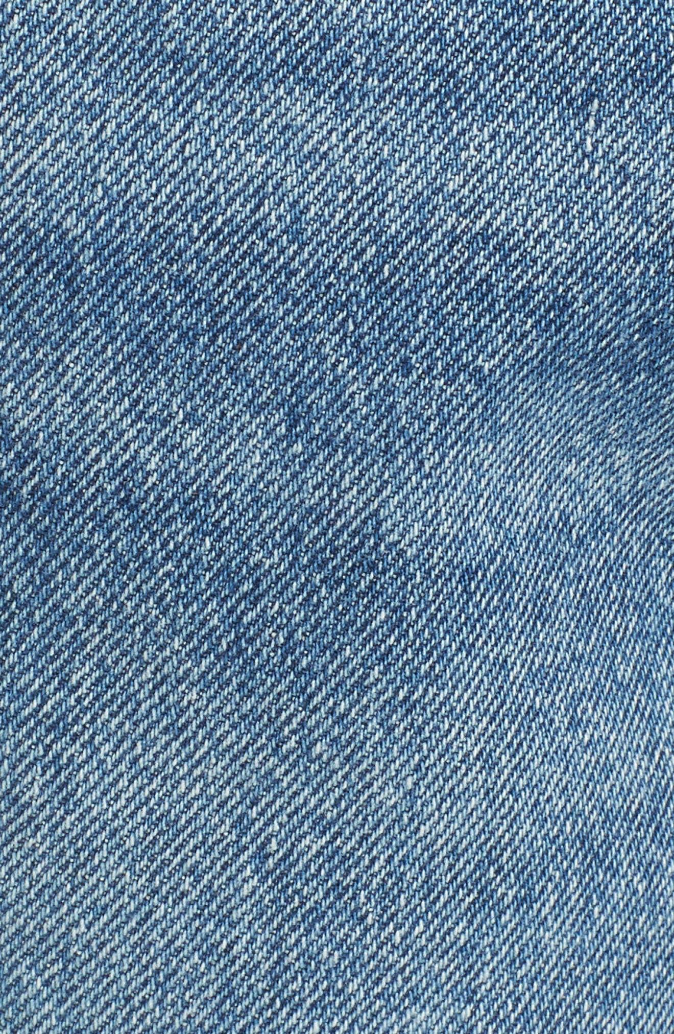 Cigarette High Waist Jeans,                             Alternate thumbnail 5, color,                             PASSENGER