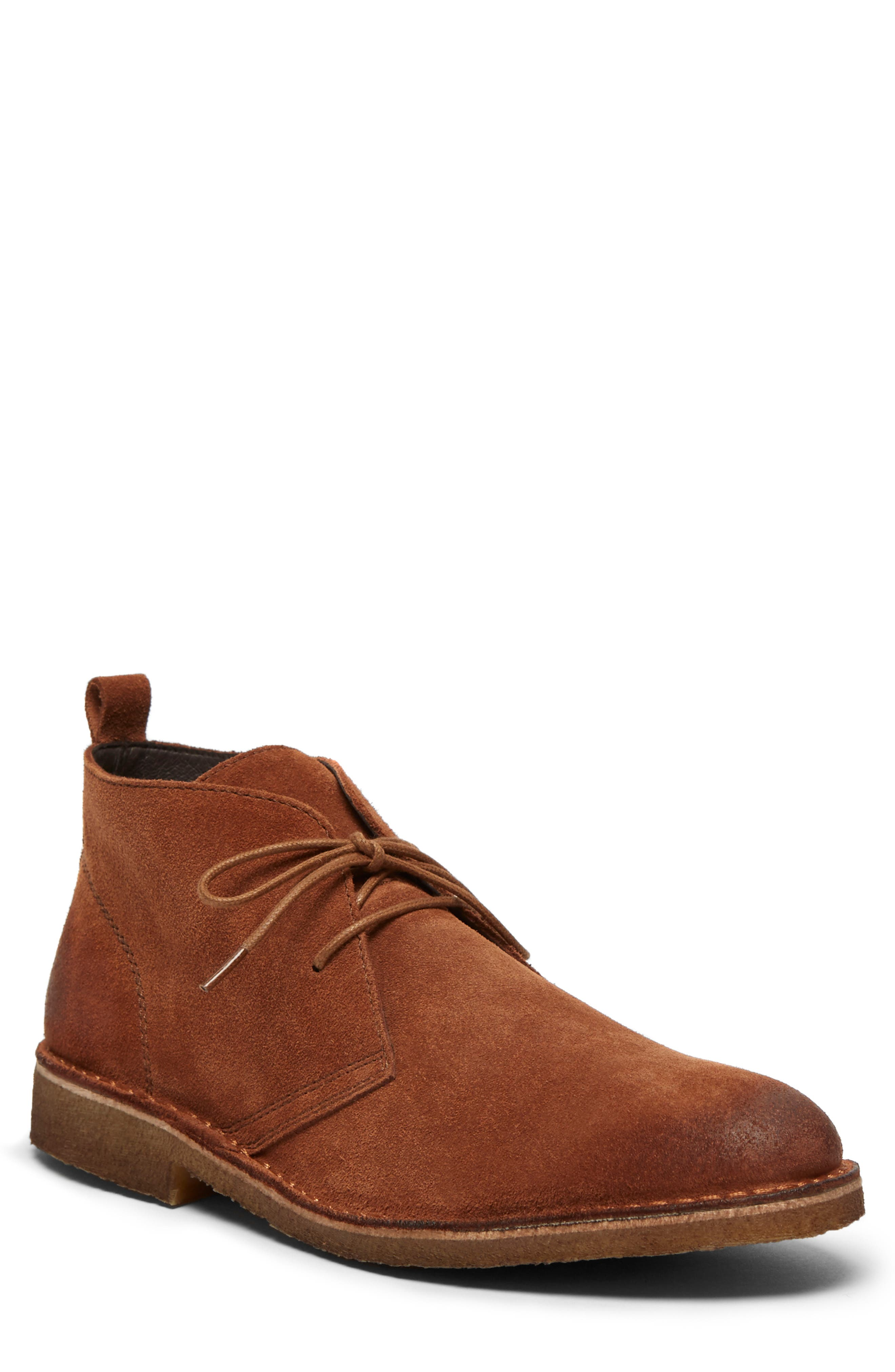 Hewitt Chukka Boot,                             Alternate thumbnail 4, color,                             RUST SUEDE