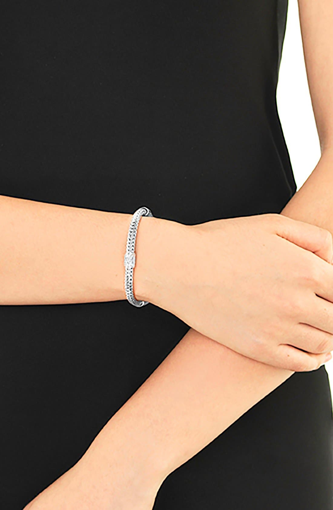 'Classic Chain' Diamond Small Bracelet,                             Alternate thumbnail 2, color,                             SILVER/ DIAMOND