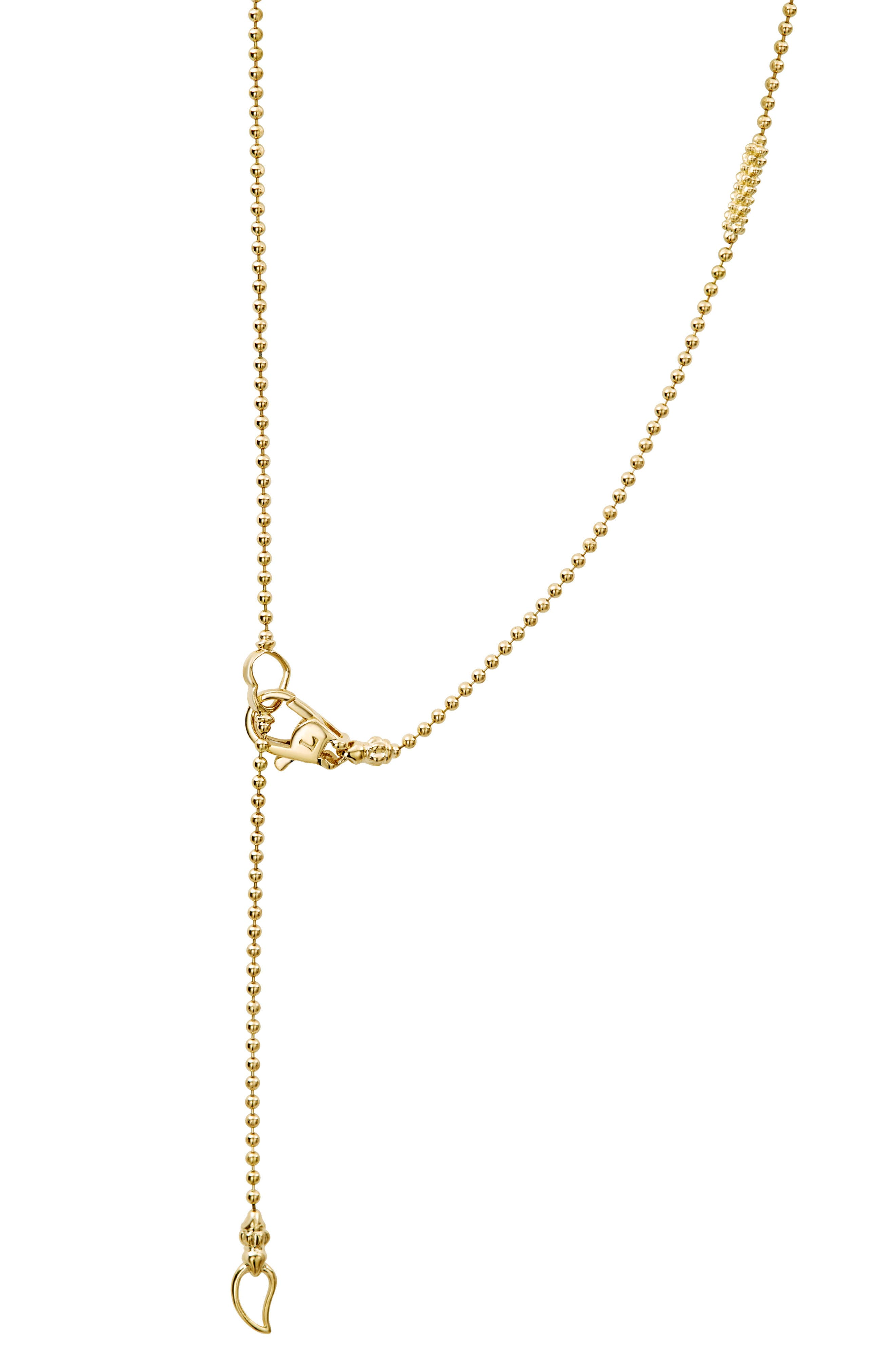 Caviar Bars & Cages Chain Necklace,                             Alternate thumbnail 4, color,                             GOLD