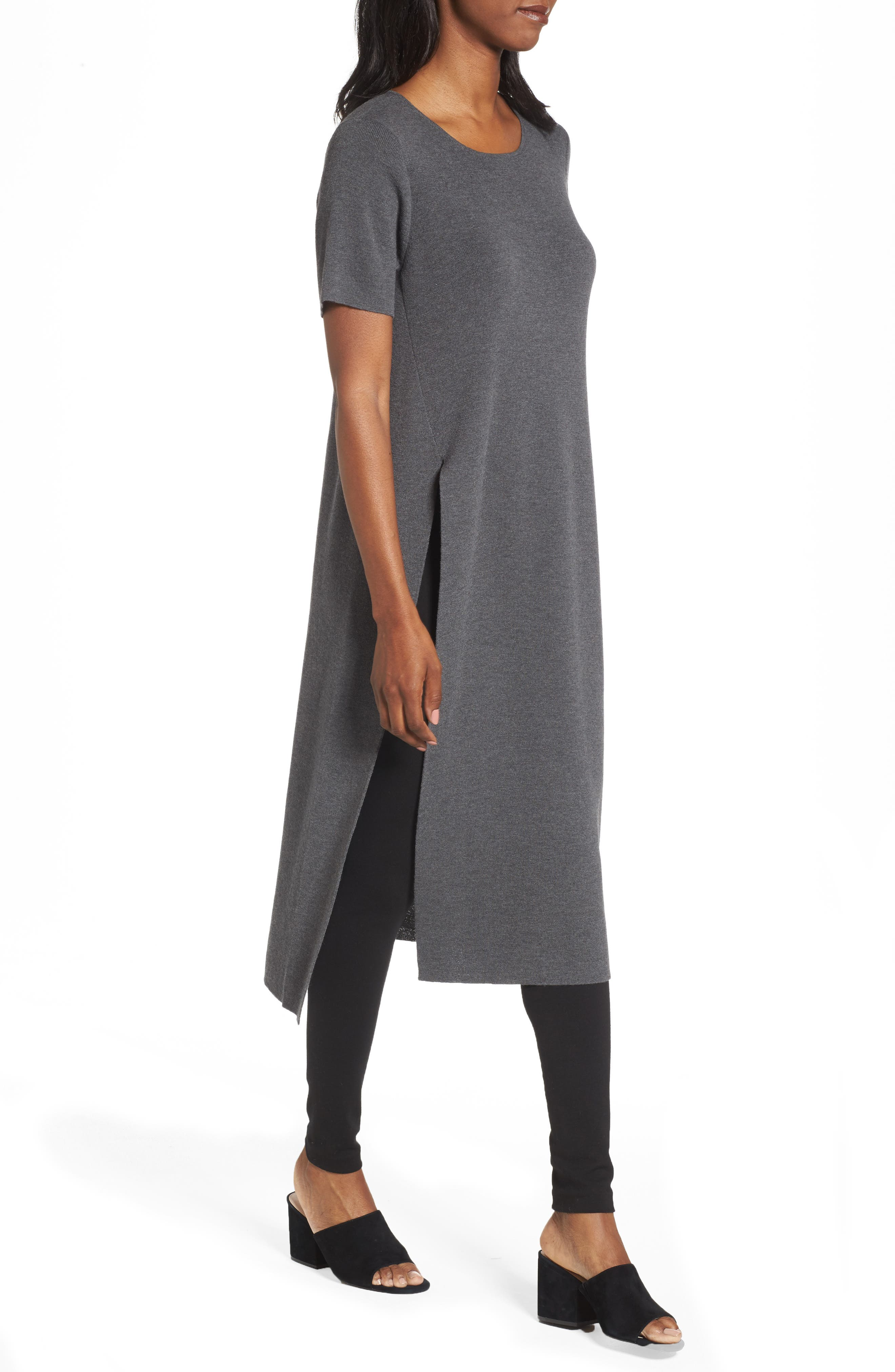 Long Wool Knit Tunic,                             Alternate thumbnail 8, color,
