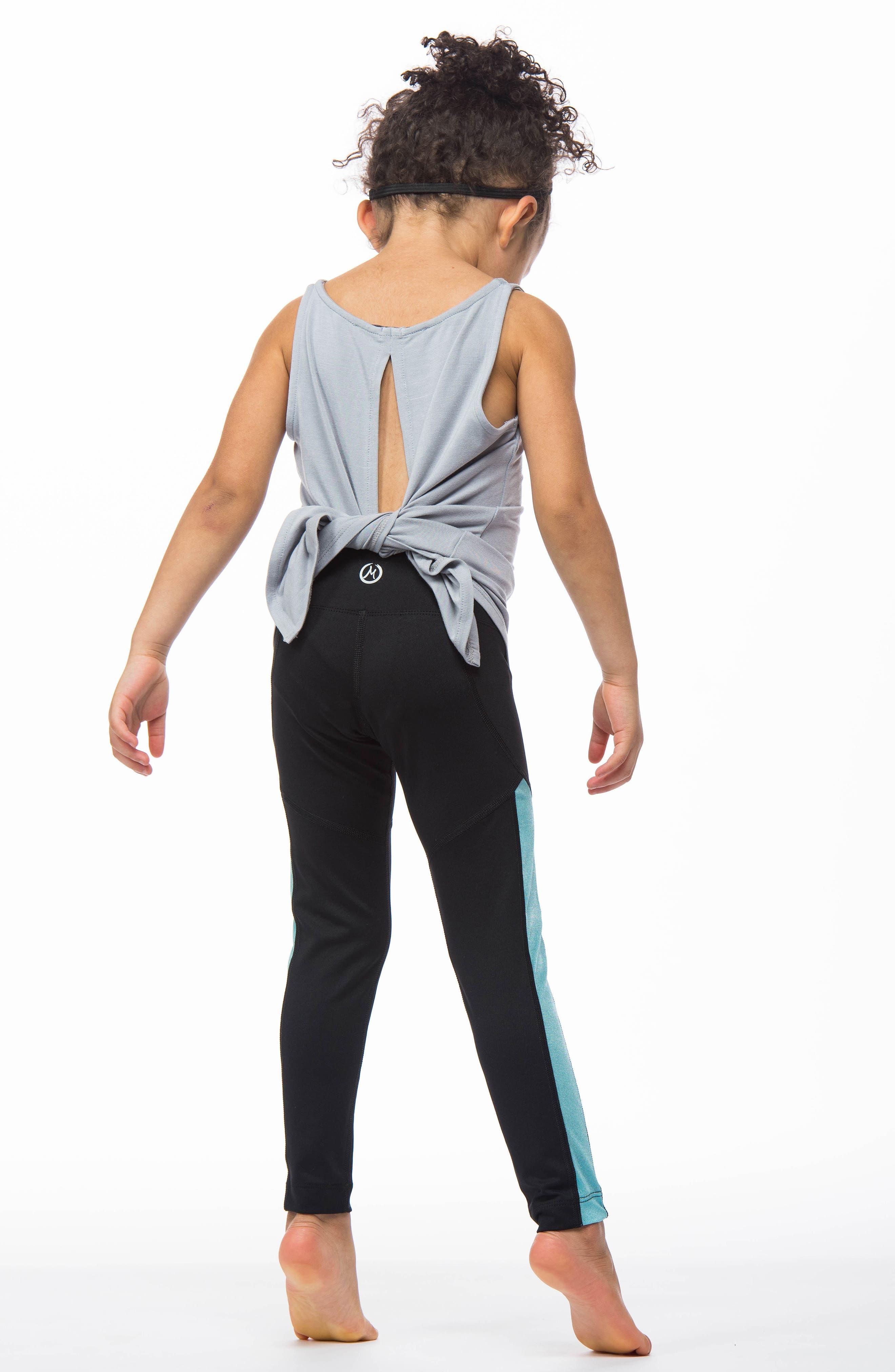 MIRA RAE,                             Zara Colorblock Leggings,                             Alternate thumbnail 8, color,                             001