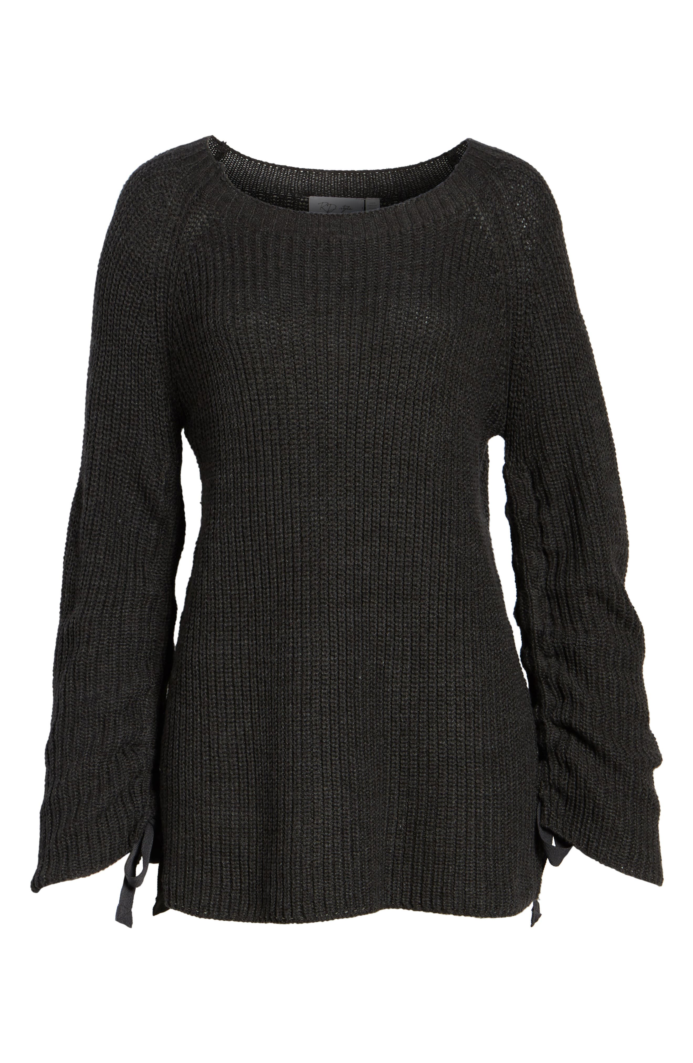 RD Style Tie Sleeve Sweater,                             Alternate thumbnail 6, color,                             020