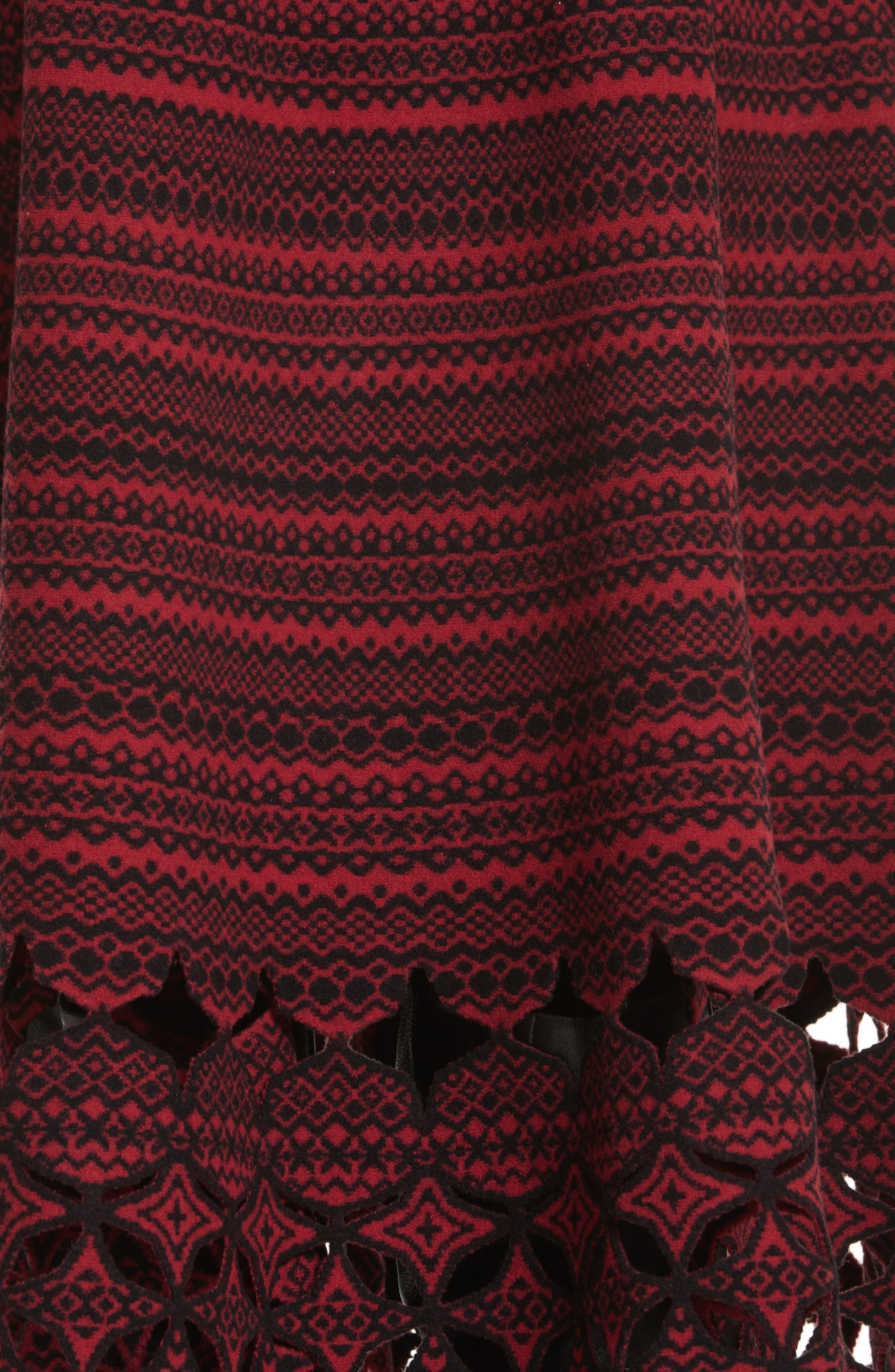 Fair Isle Wool Blend Skirt,                             Alternate thumbnail 5, color,                             600