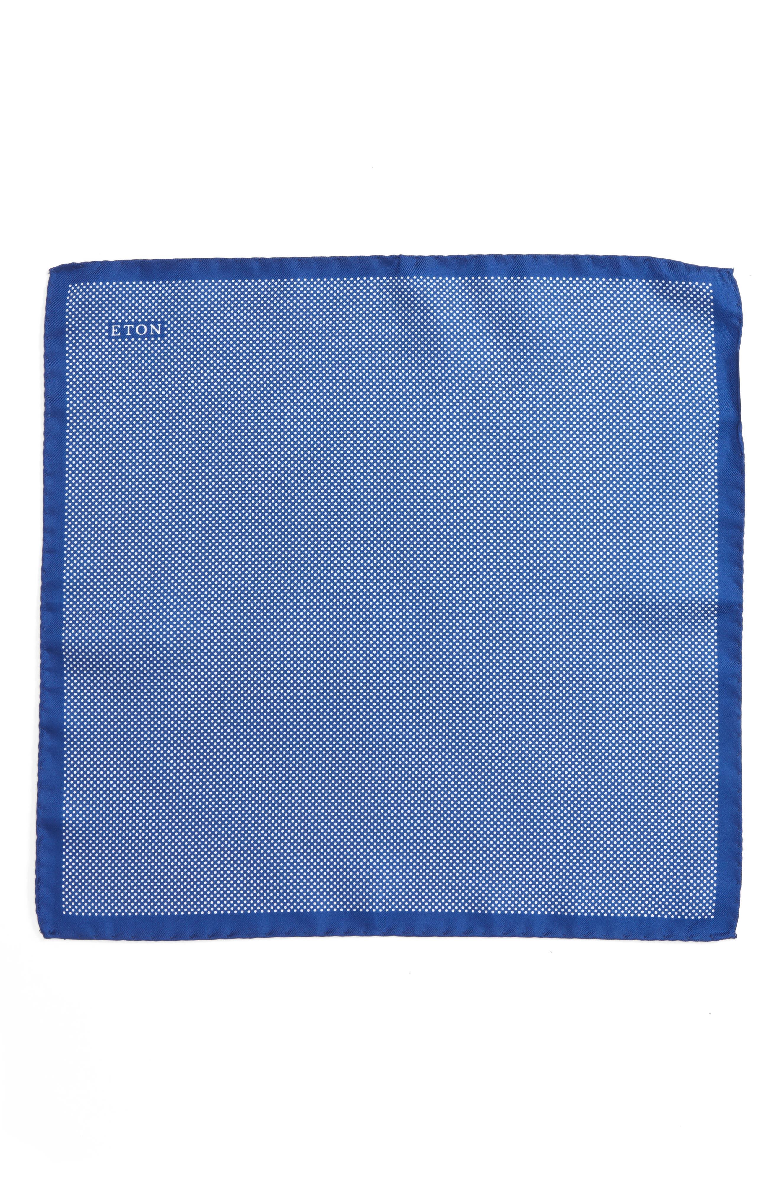 Dot Silk Pocket Square,                             Alternate thumbnail 2, color,                             BLUE