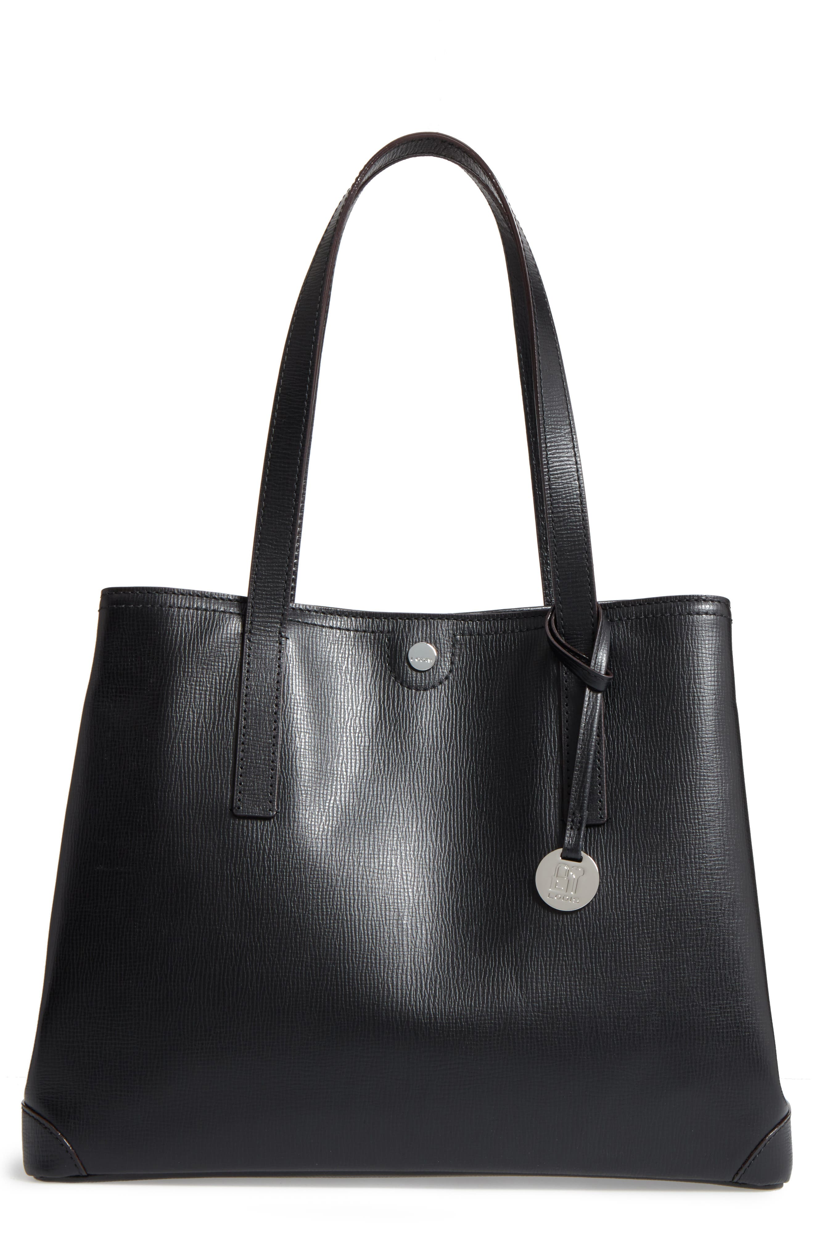 Business Chic Louisa RFID-Protected Leather Tote,                         Main,                         color,