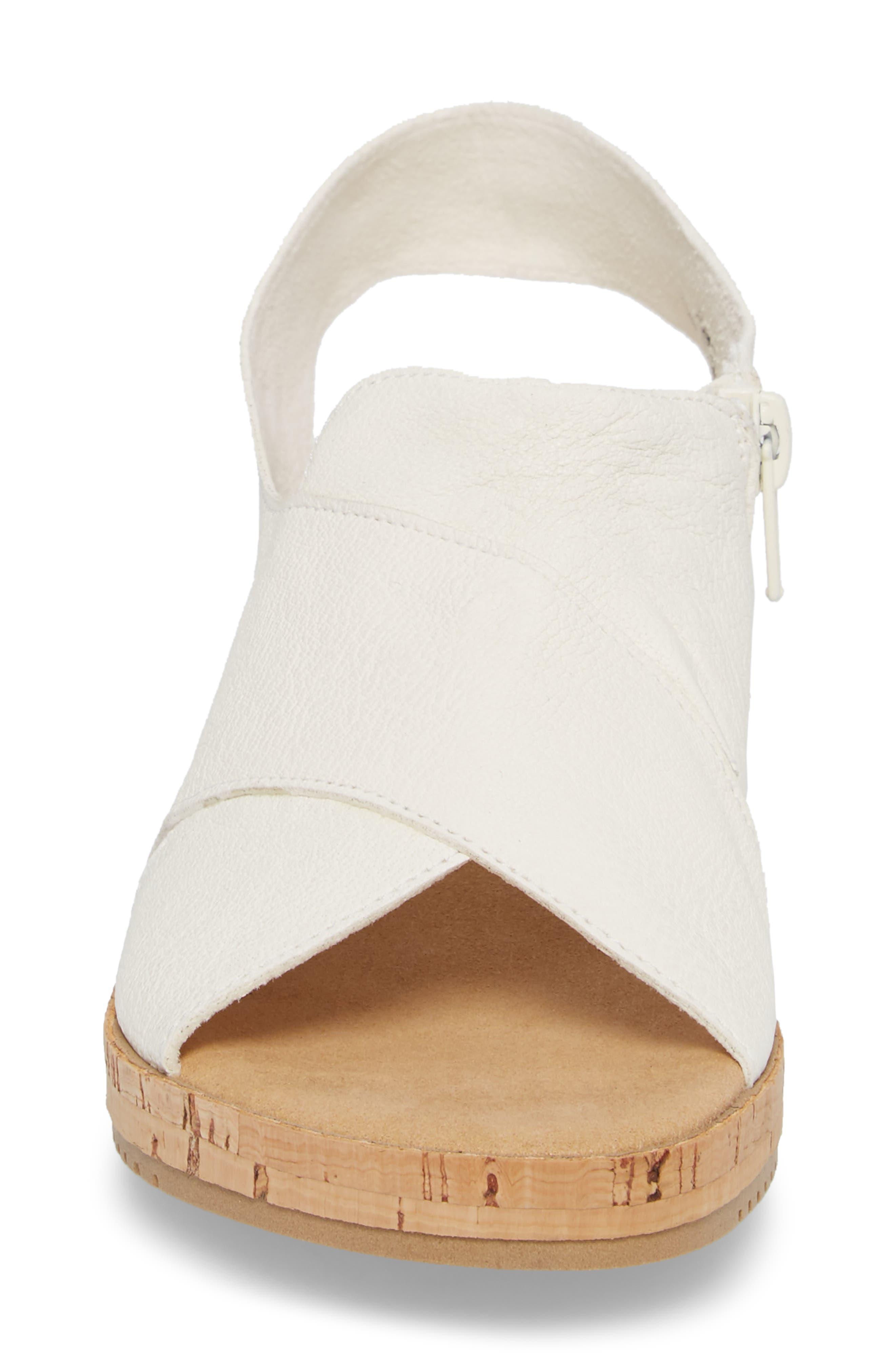 Sylke Sandal,                             Alternate thumbnail 4, color,                             WHITE LEATHER