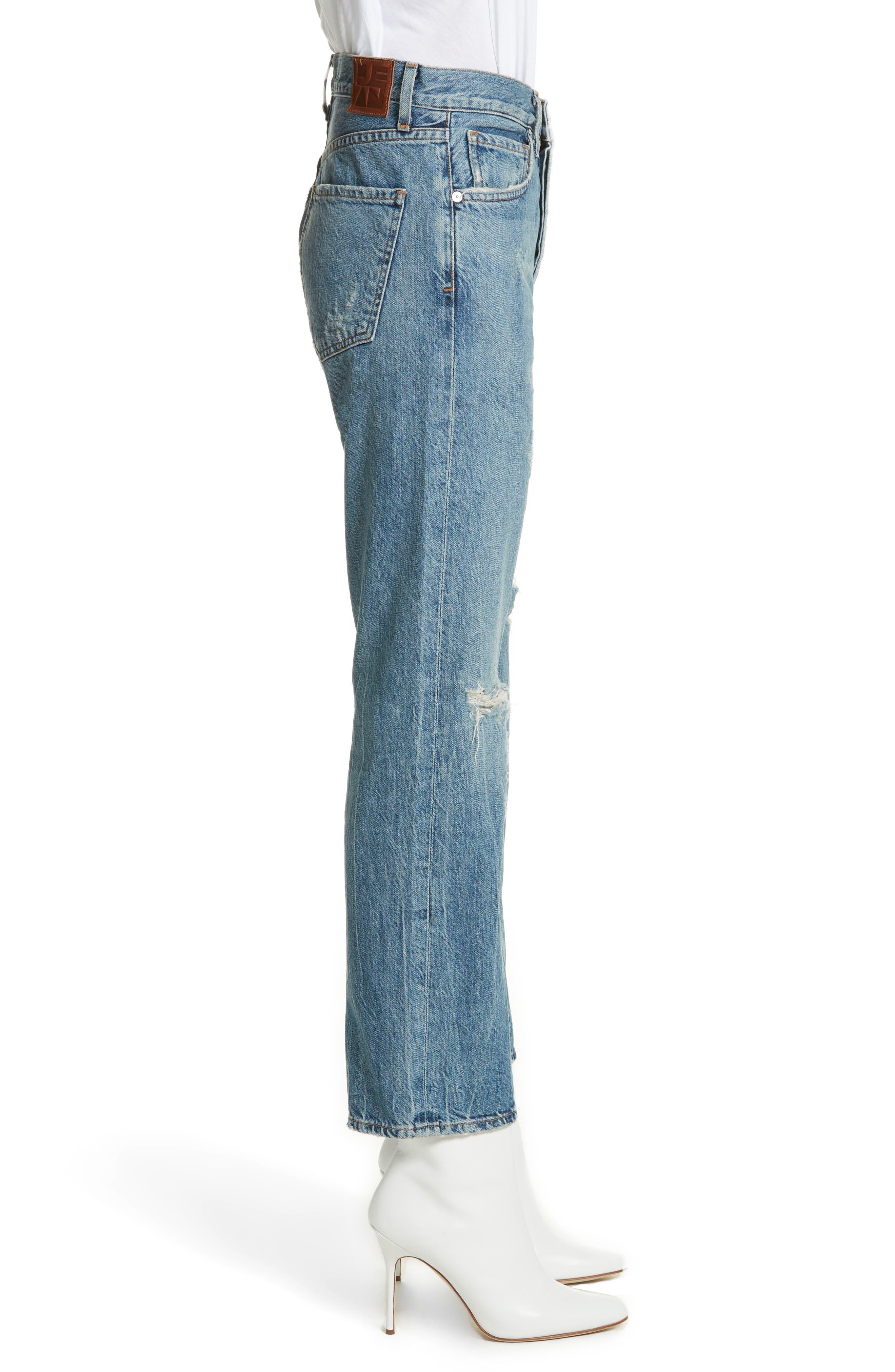 Laurent High Rise Distressed Boyfriend Jeans,                             Alternate thumbnail 3, color,                             VINTAGE