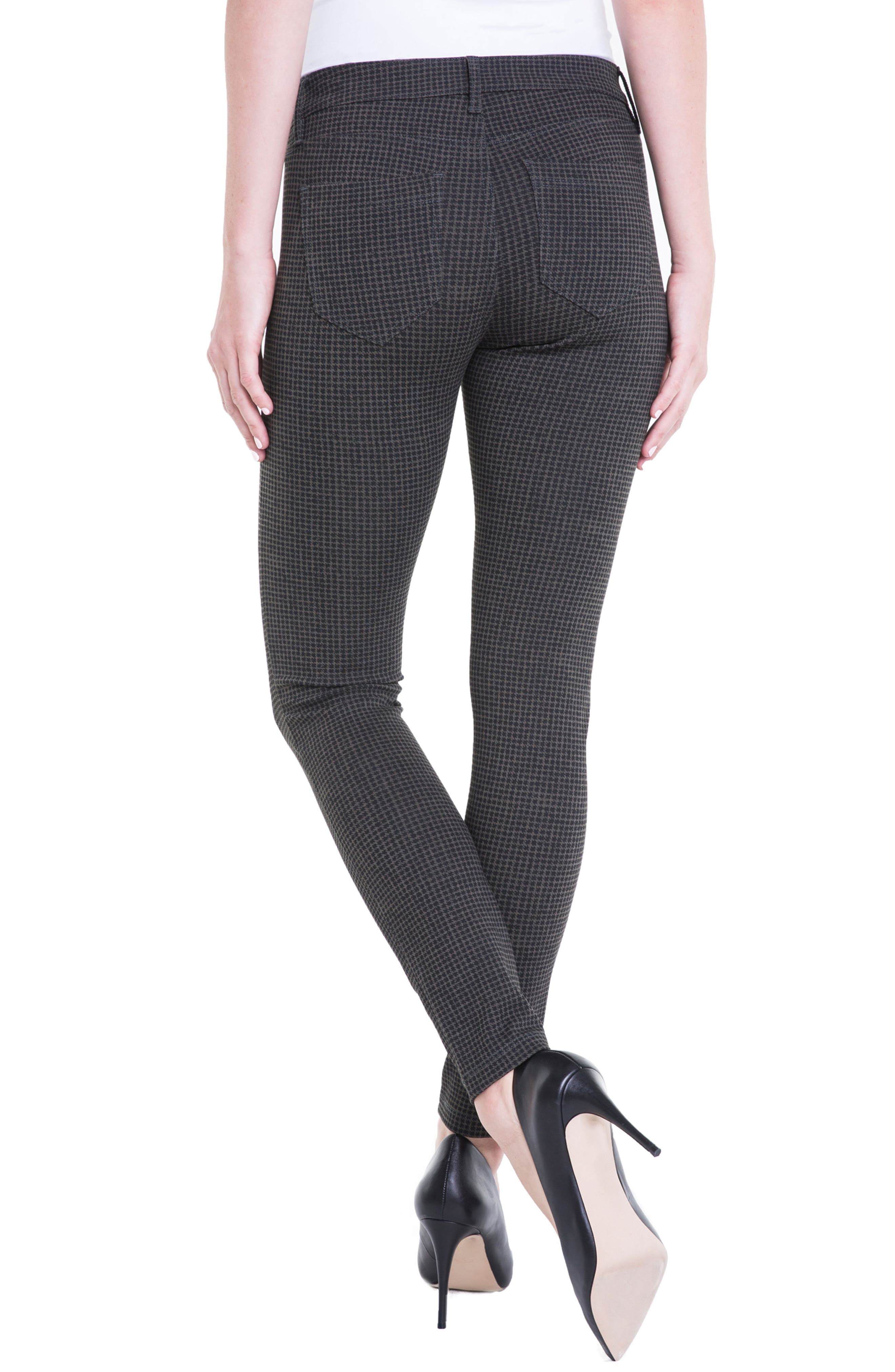 Houndstooth Super Skinny Ponte Knit Pants,                             Alternate thumbnail 2, color,                             308