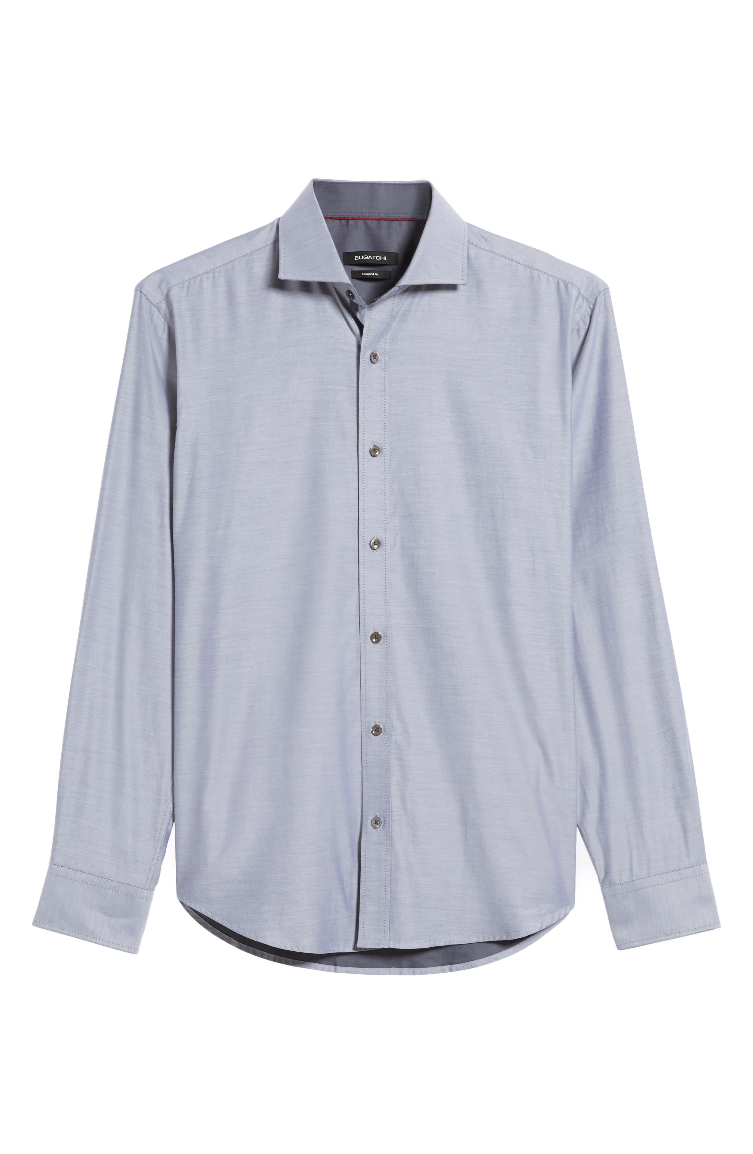 Trim Fit Solid Sport Shirt,                             Alternate thumbnail 6, color,                             020