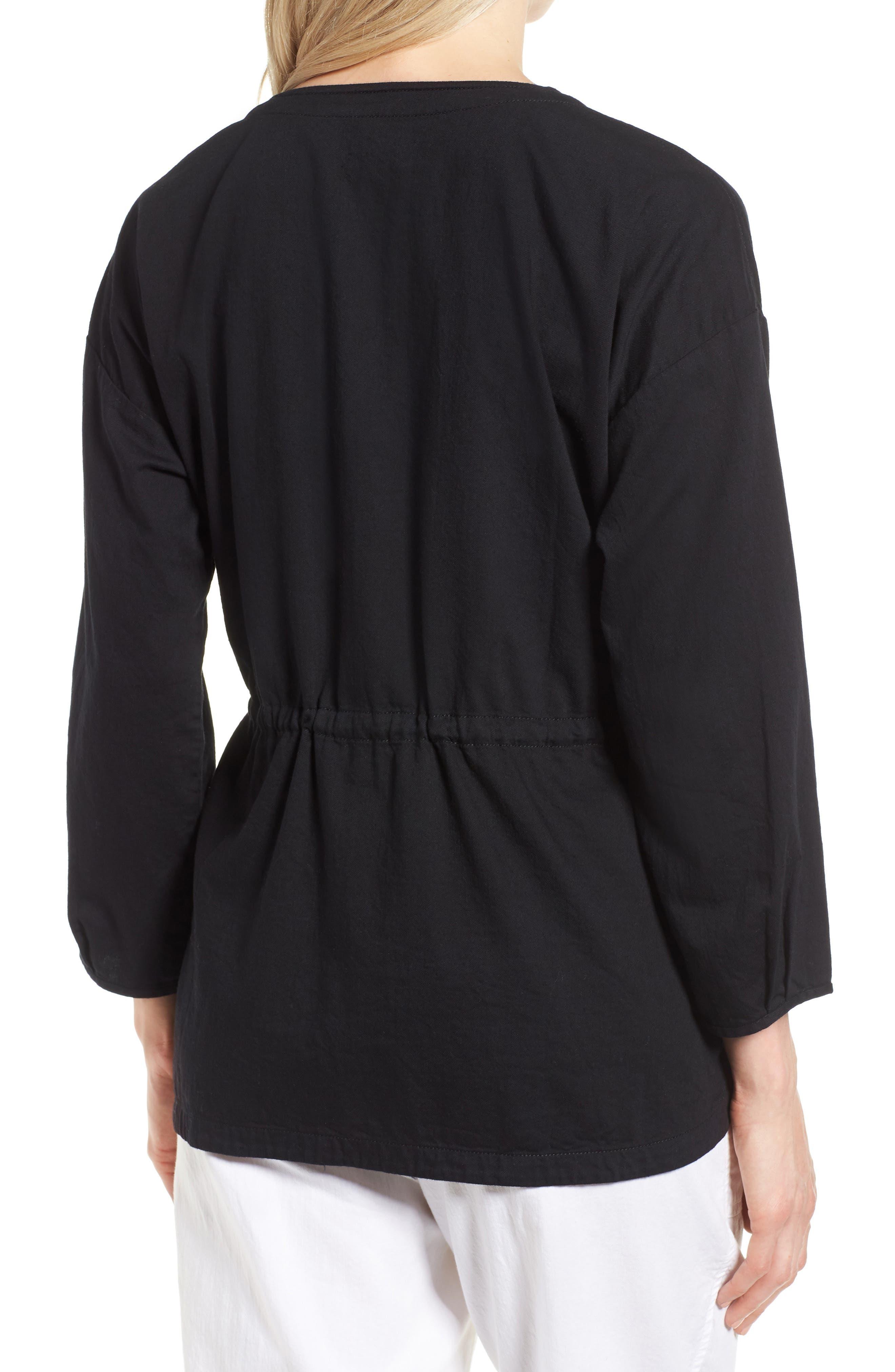 Shirttail Hem Organic Cotton Jacket,                             Alternate thumbnail 3, color,