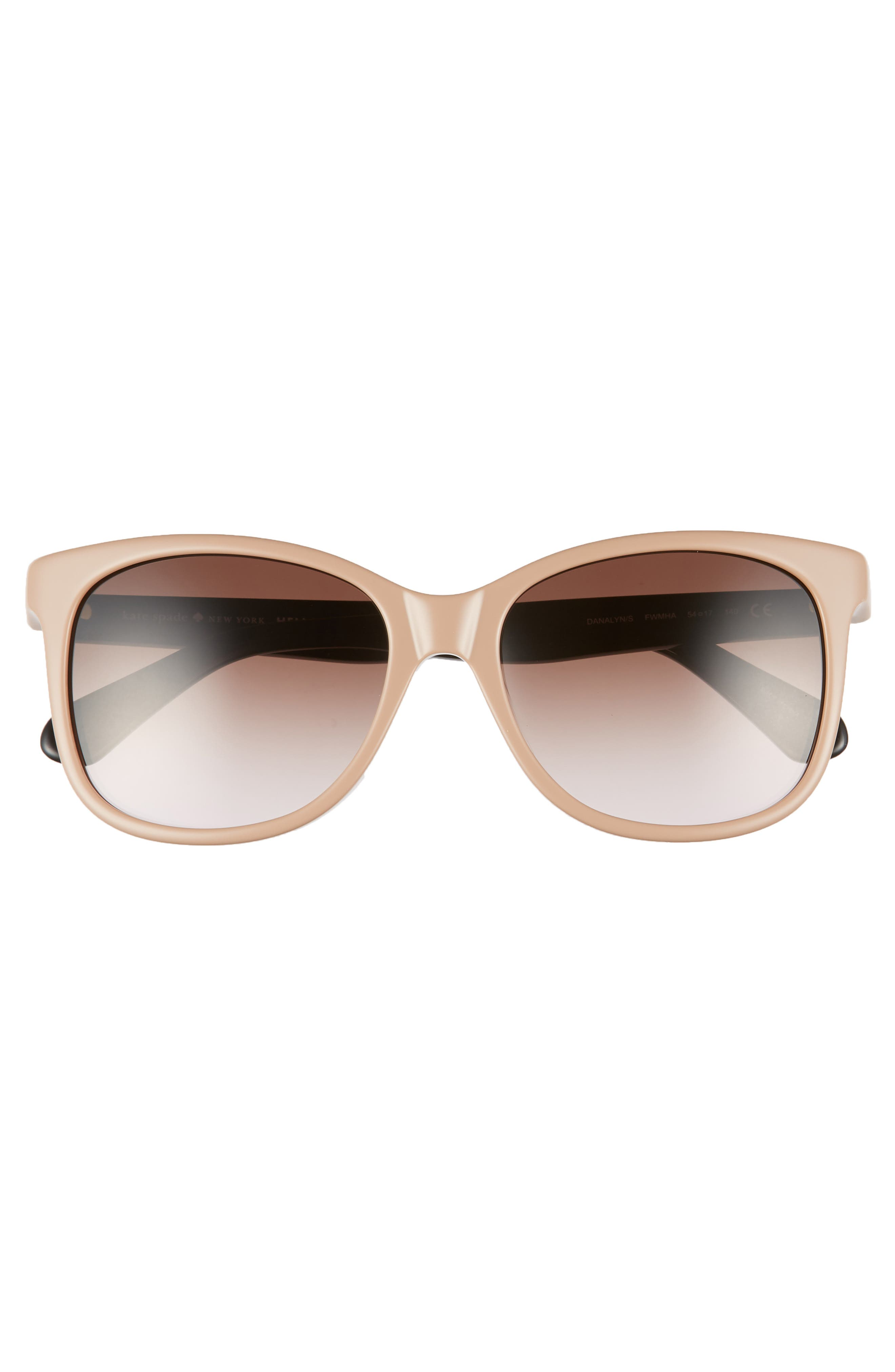 danalyns 54mm sunglasses,                             Alternate thumbnail 3, color,                             NUDE
