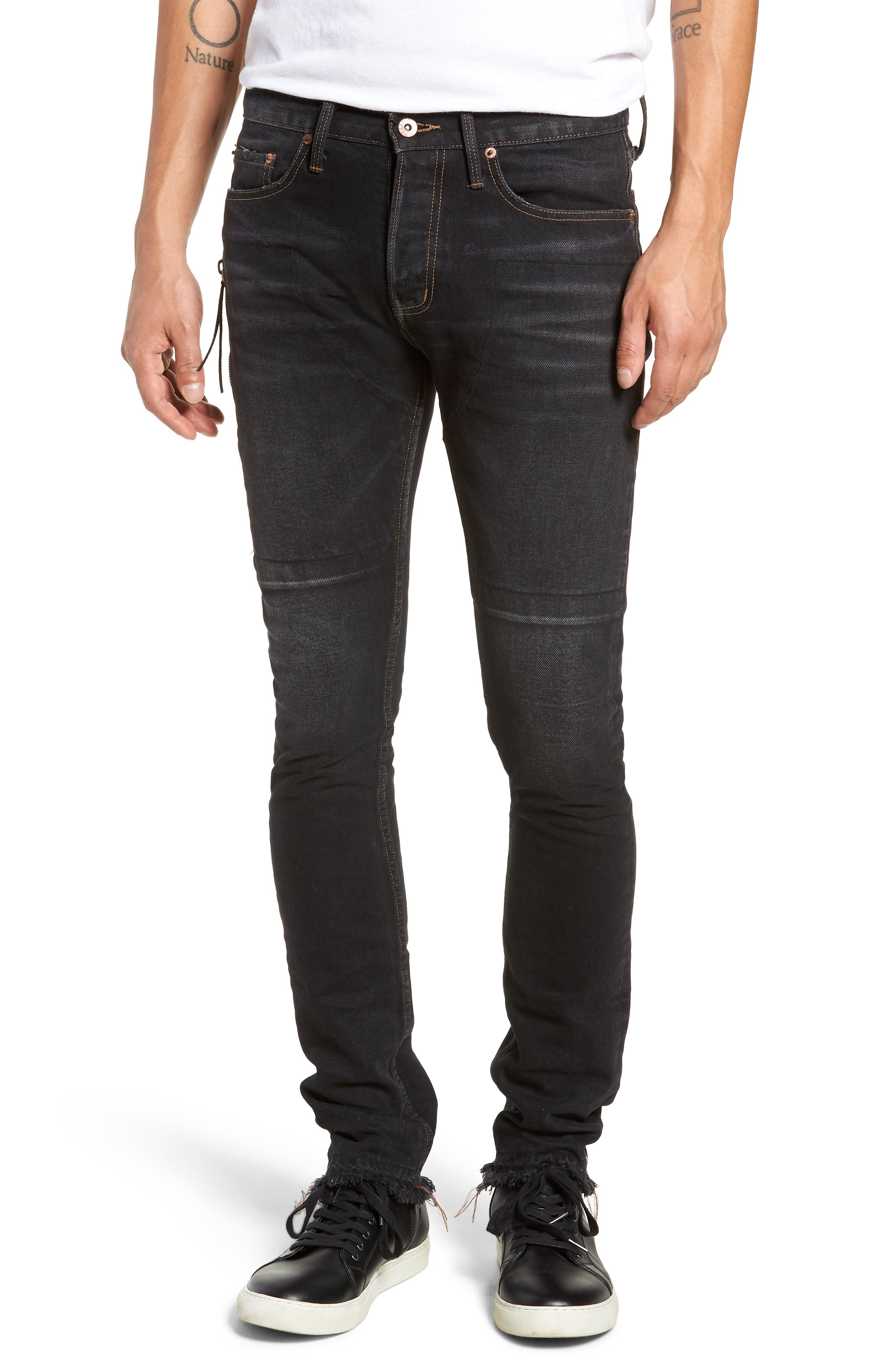 MR. COMPLETELY Trafford Skinny Fit Jeans in Stone Black