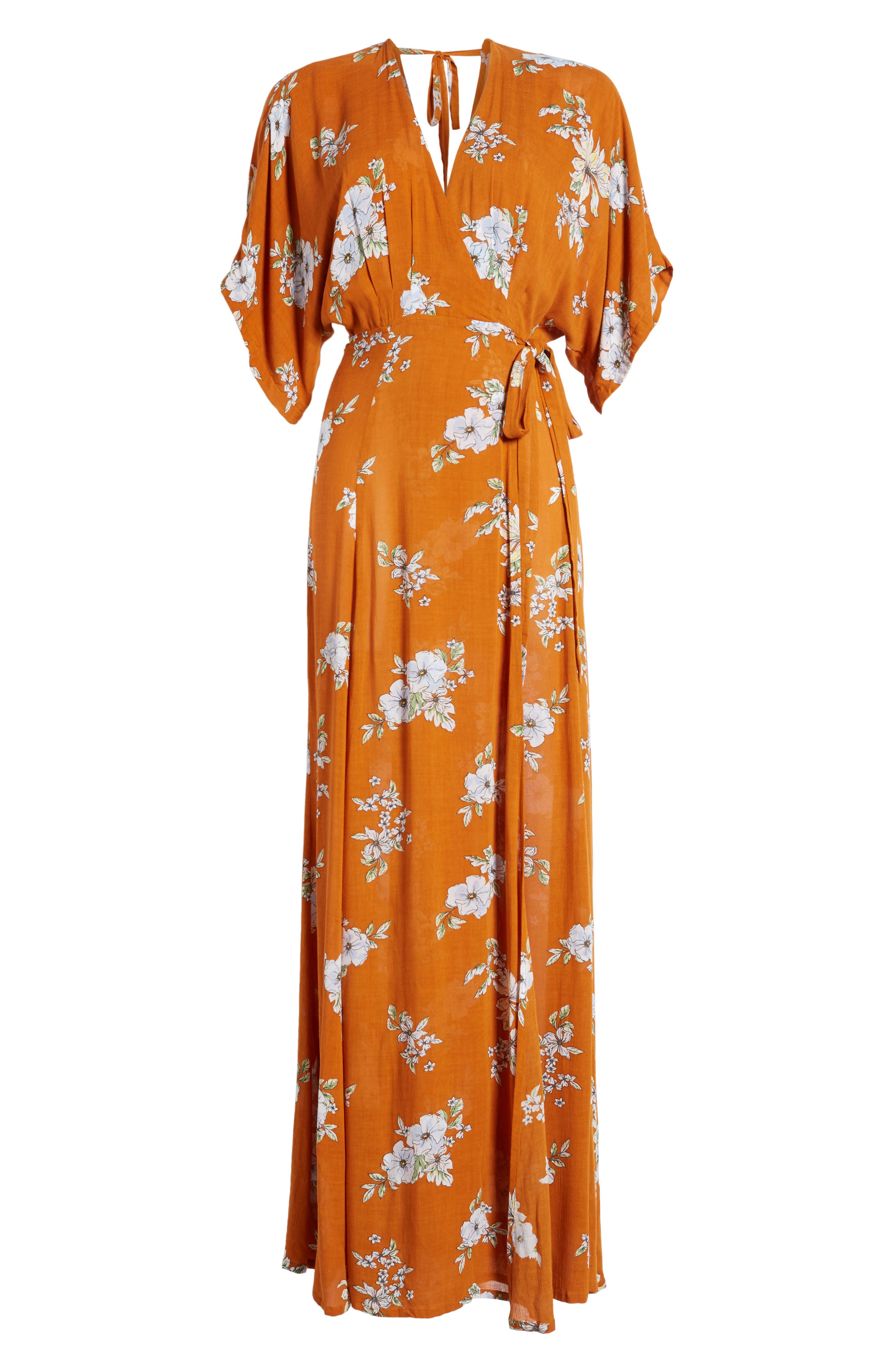 Bergamo Floral Wrap Maxi Dress,                             Alternate thumbnail 6, color,