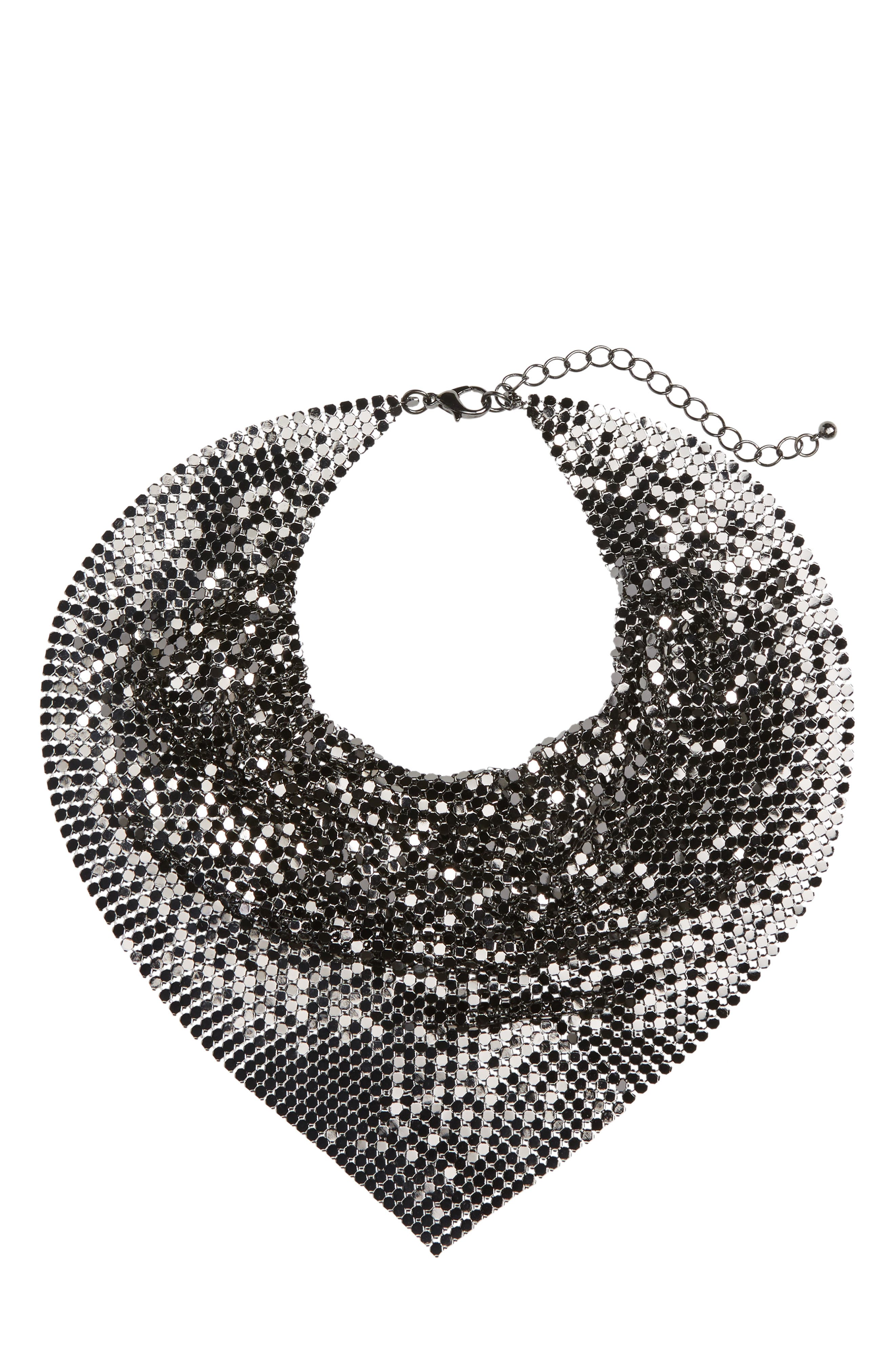 Metal Mesh Kerchief Necklace,                         Main,                         color, 040