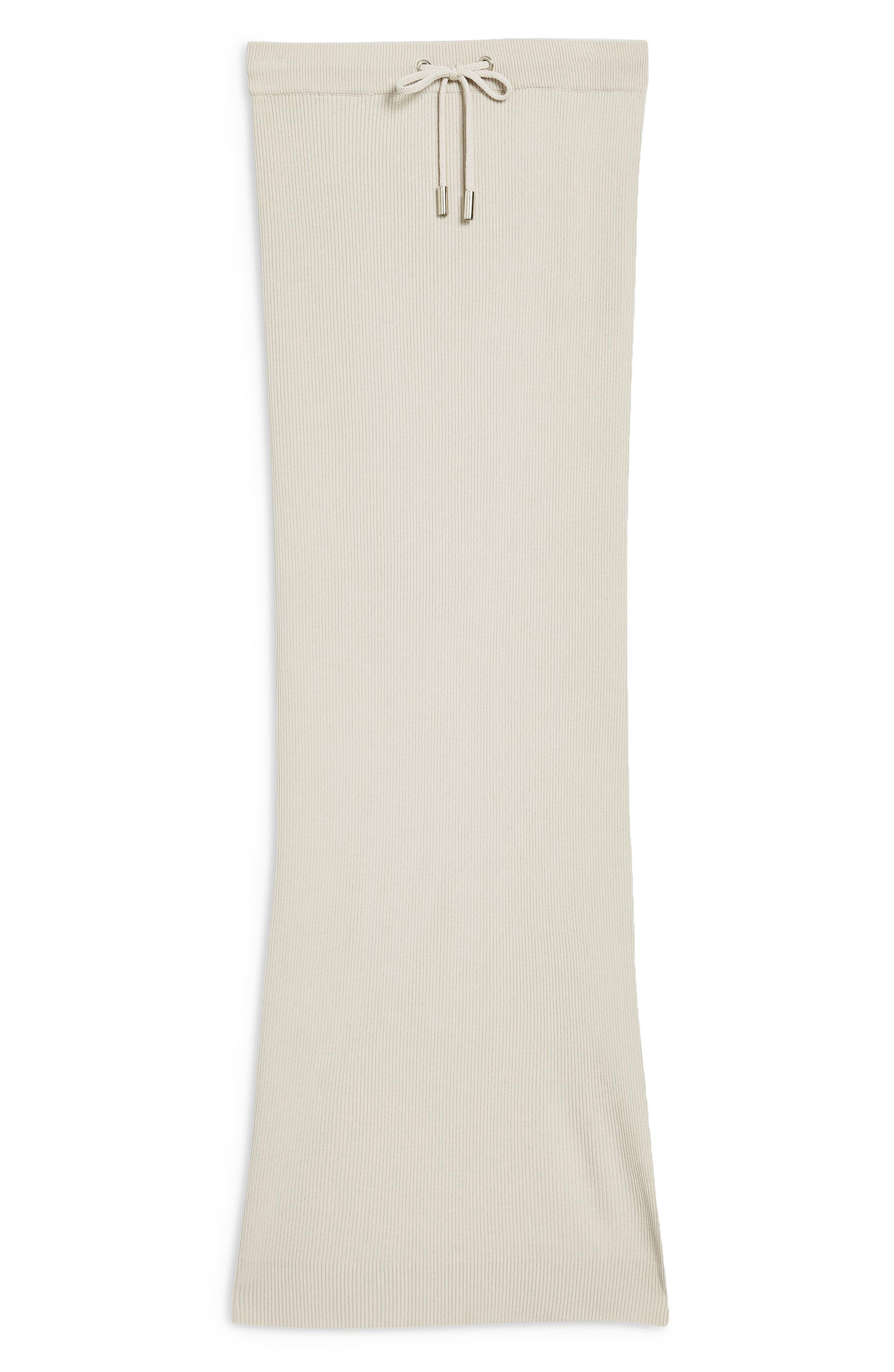 Ribbed Tube Skirt,                             Alternate thumbnail 2, color,                             GREY