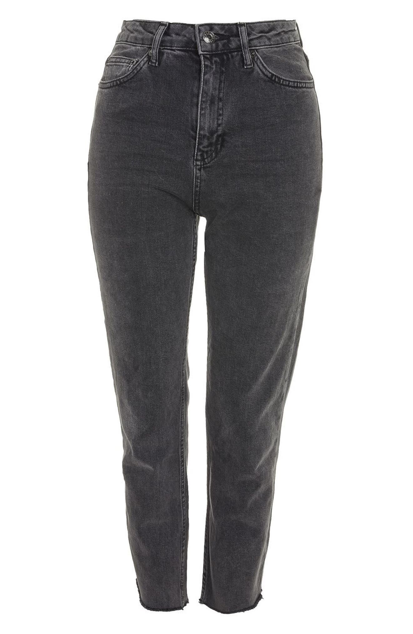 Raw Hem Straight Leg Jeans,                             Alternate thumbnail 4, color,                             021