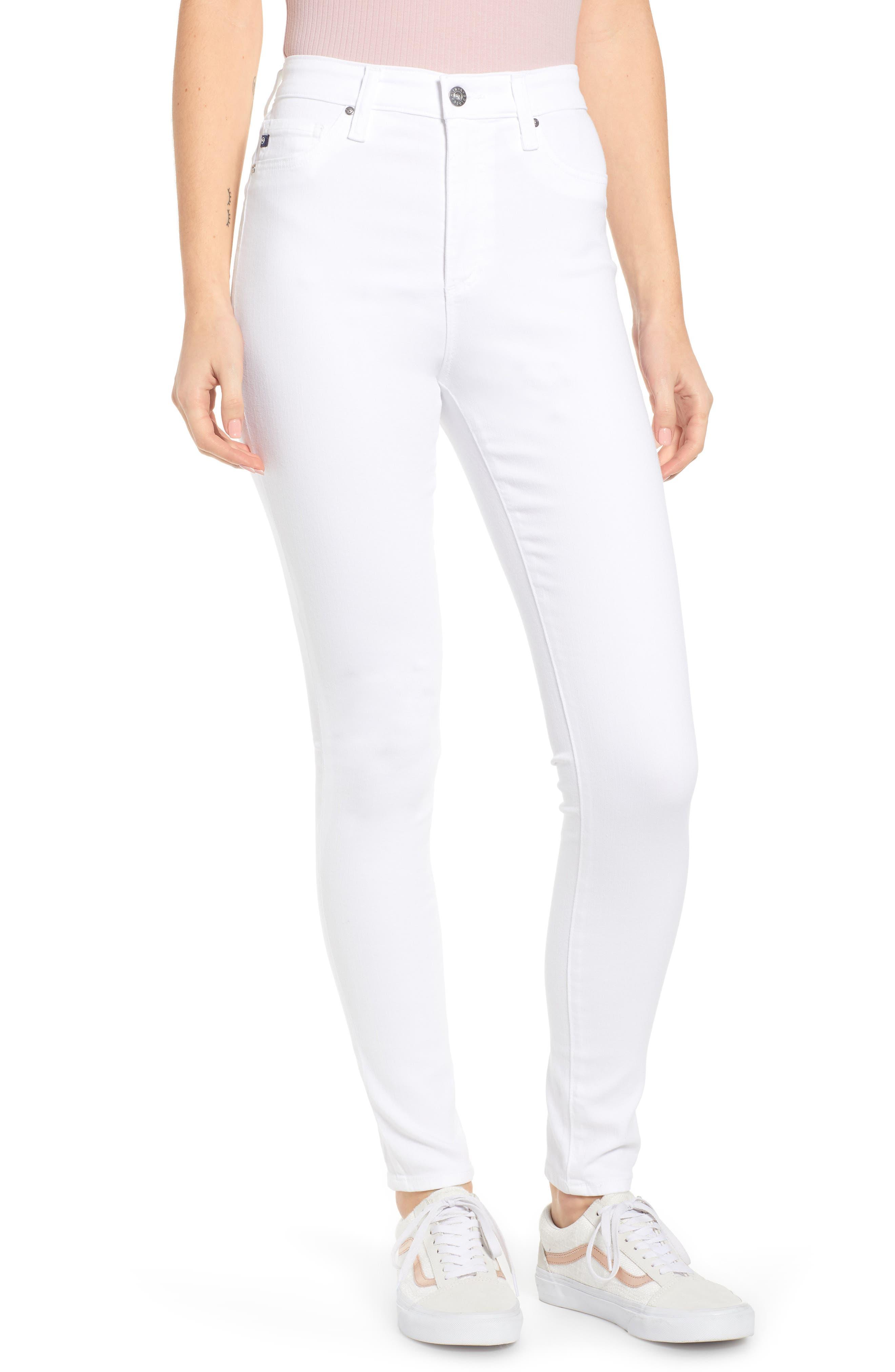 AG,                             The Mila Super High Waist Ankle Skinny Jeans,                             Main thumbnail 1, color,                             110