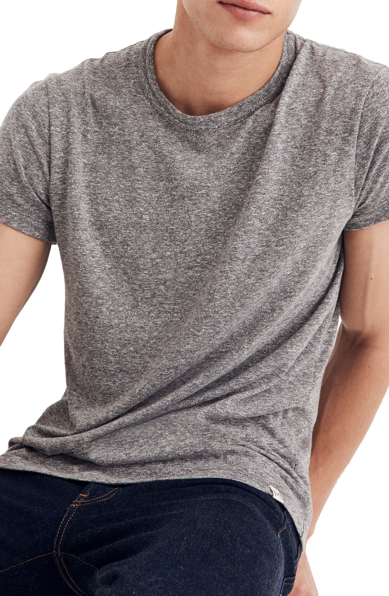 MADEWELL,                             Crewneck T-Shirt,                             Main thumbnail 1, color,                             HEATHER GREY