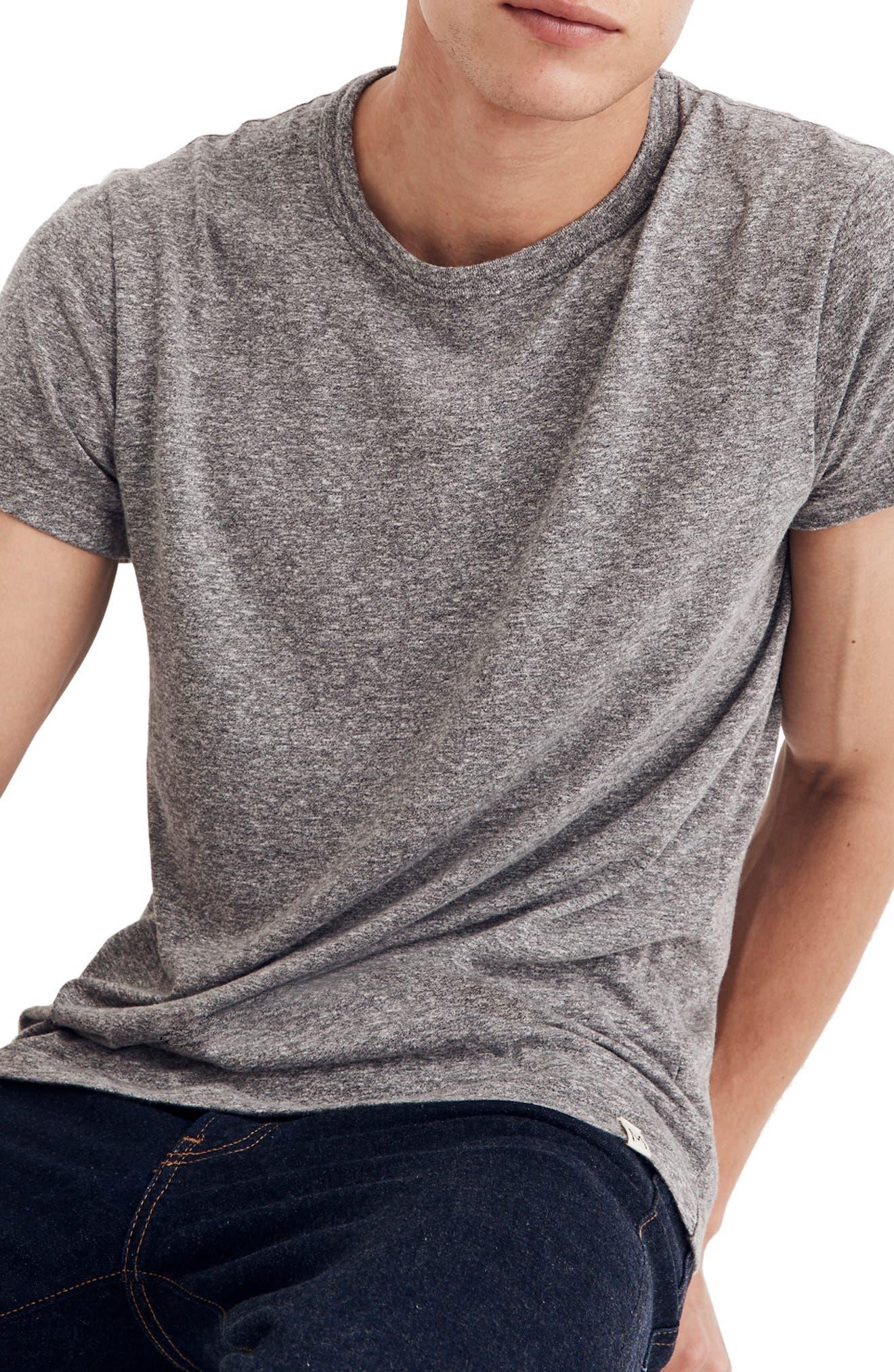 MADEWELL Crewneck T-Shirt, Main, color, HEATHER GREY