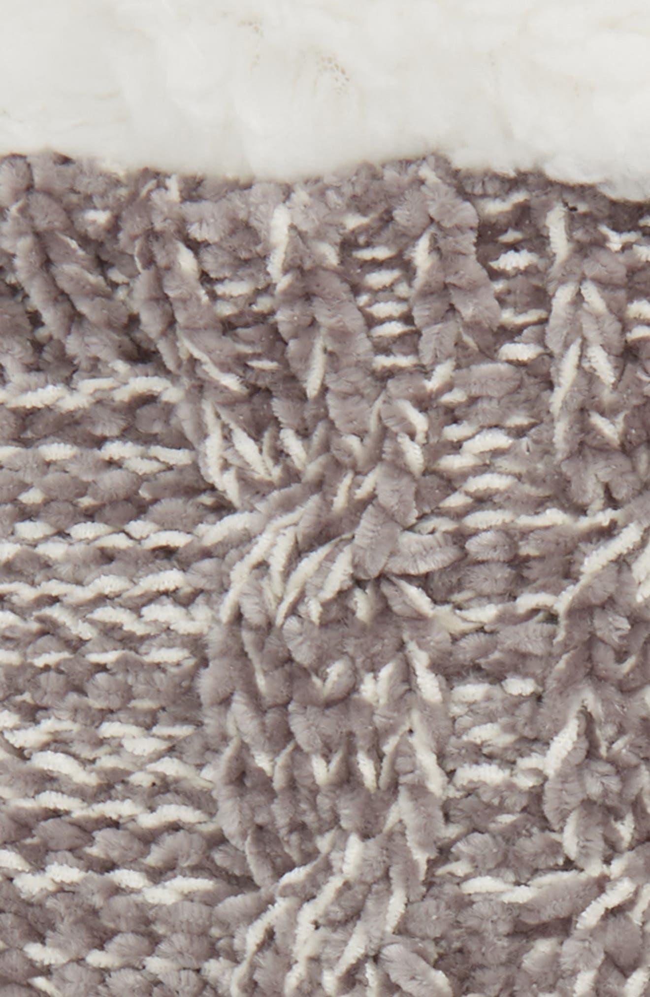 Chenille Slipper Sock,                             Alternate thumbnail 2, color,                             020