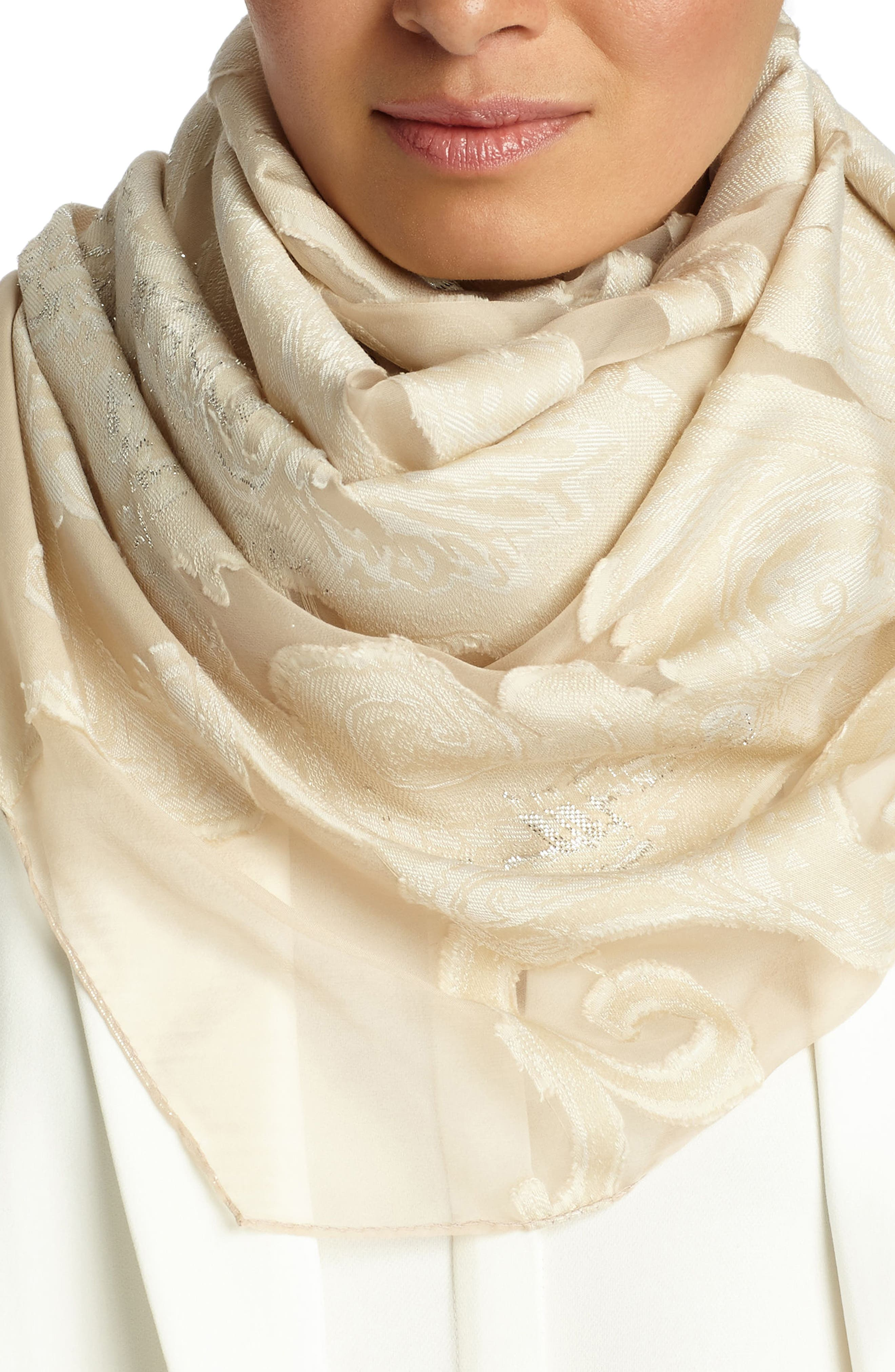 Guilded Paisley Scarf,                             Main thumbnail 2, color,