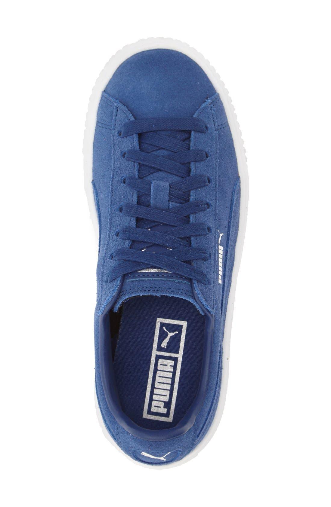 Suede Platform Sneaker,                             Alternate thumbnail 17, color,