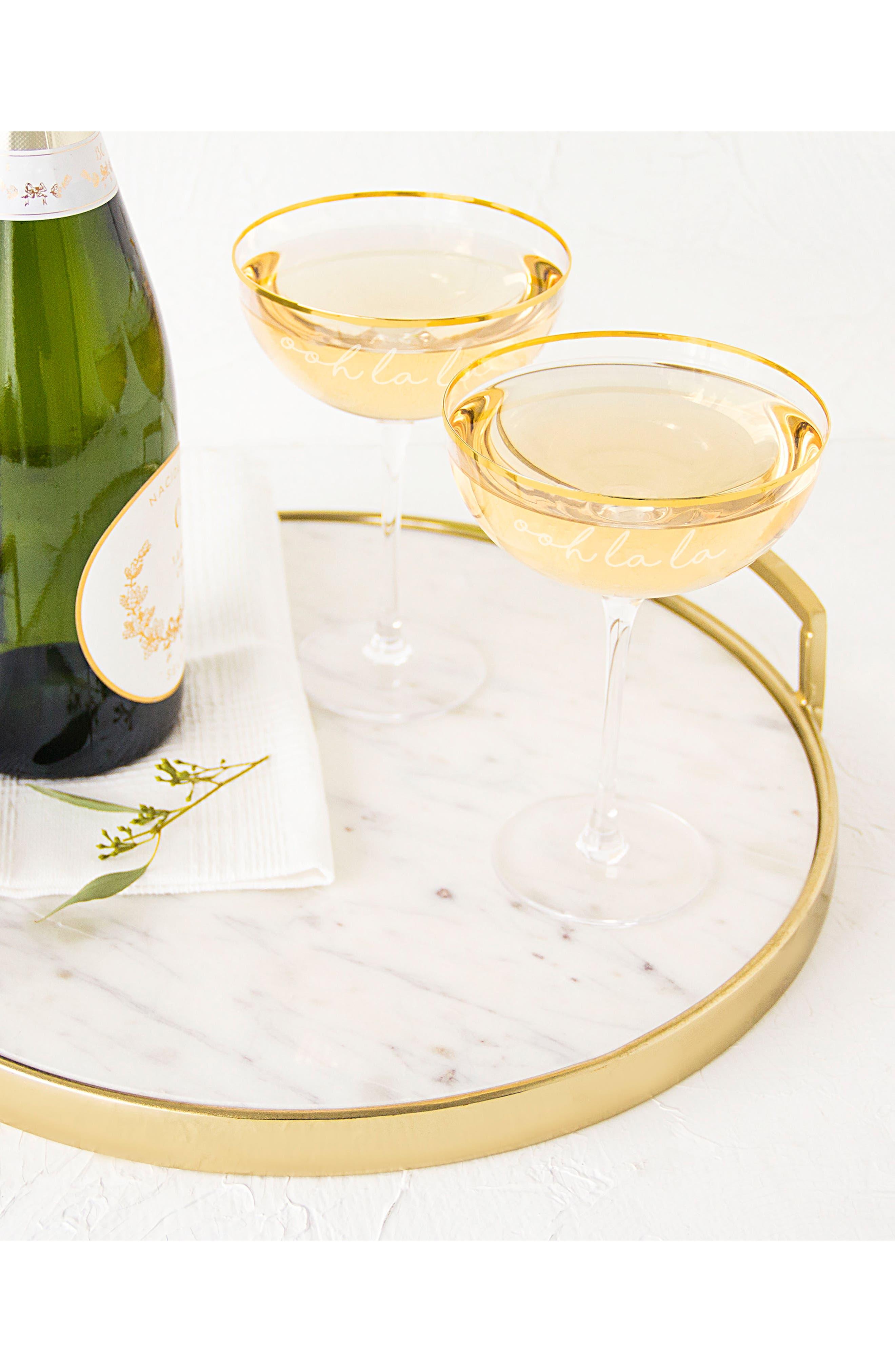 Ooh La La Set of 2 Champagne Coupes,                             Alternate thumbnail 4, color,                             100