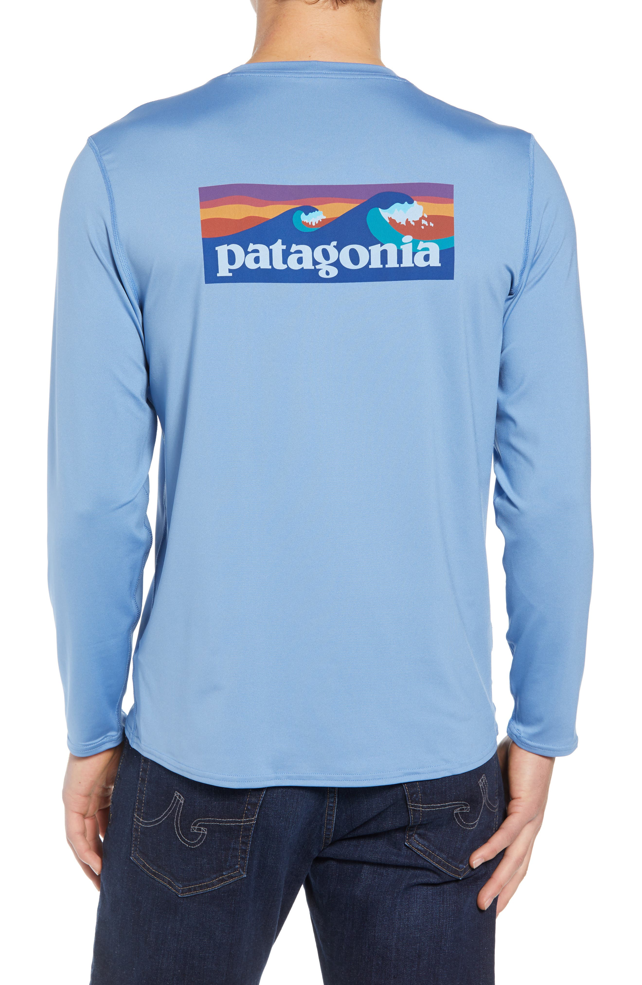 RØ<sup>®</sup> Sun Long Sleeve T-Shirt,                             Alternate thumbnail 2, color,                             BOARDSHORT LOGO/ RAILROAD BLUE