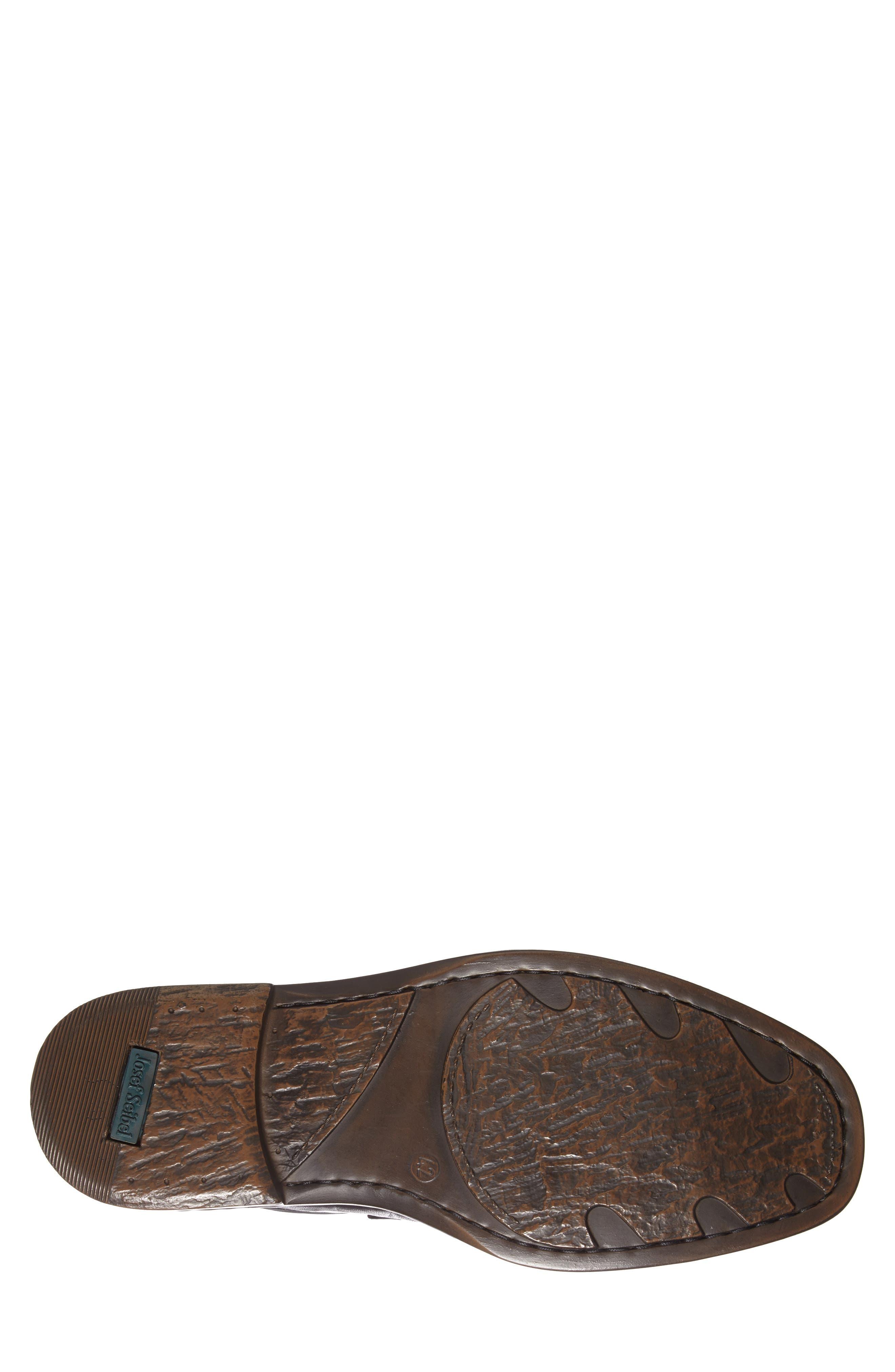 'Douglas 11' Double Monk Strap Shoe,                             Alternate thumbnail 4, color,                             BLACK
