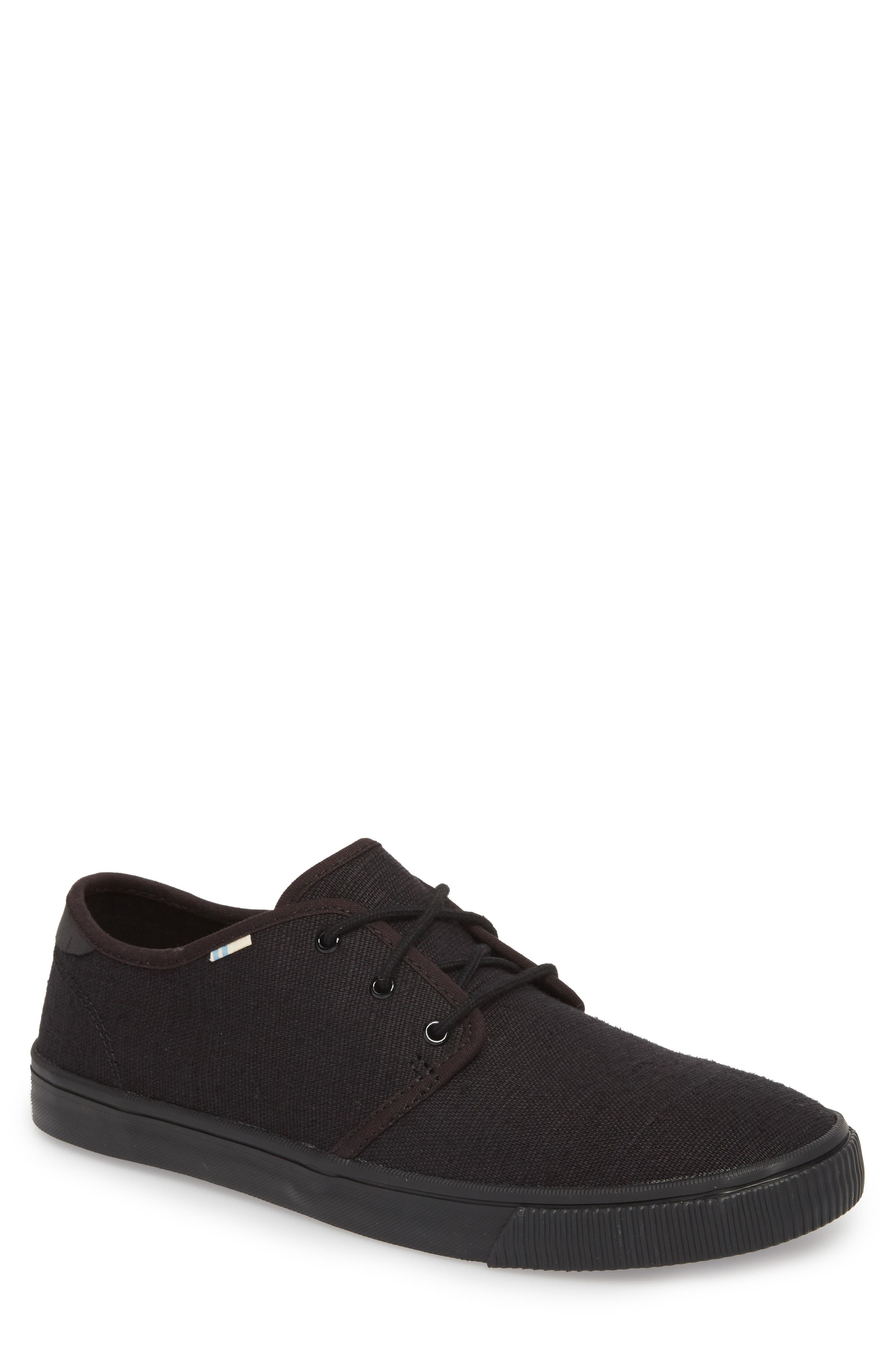 Carlo Low Top Sneaker,                             Main thumbnail 1, color,                             BLACK/ BLACK HERITAGE CANVAS