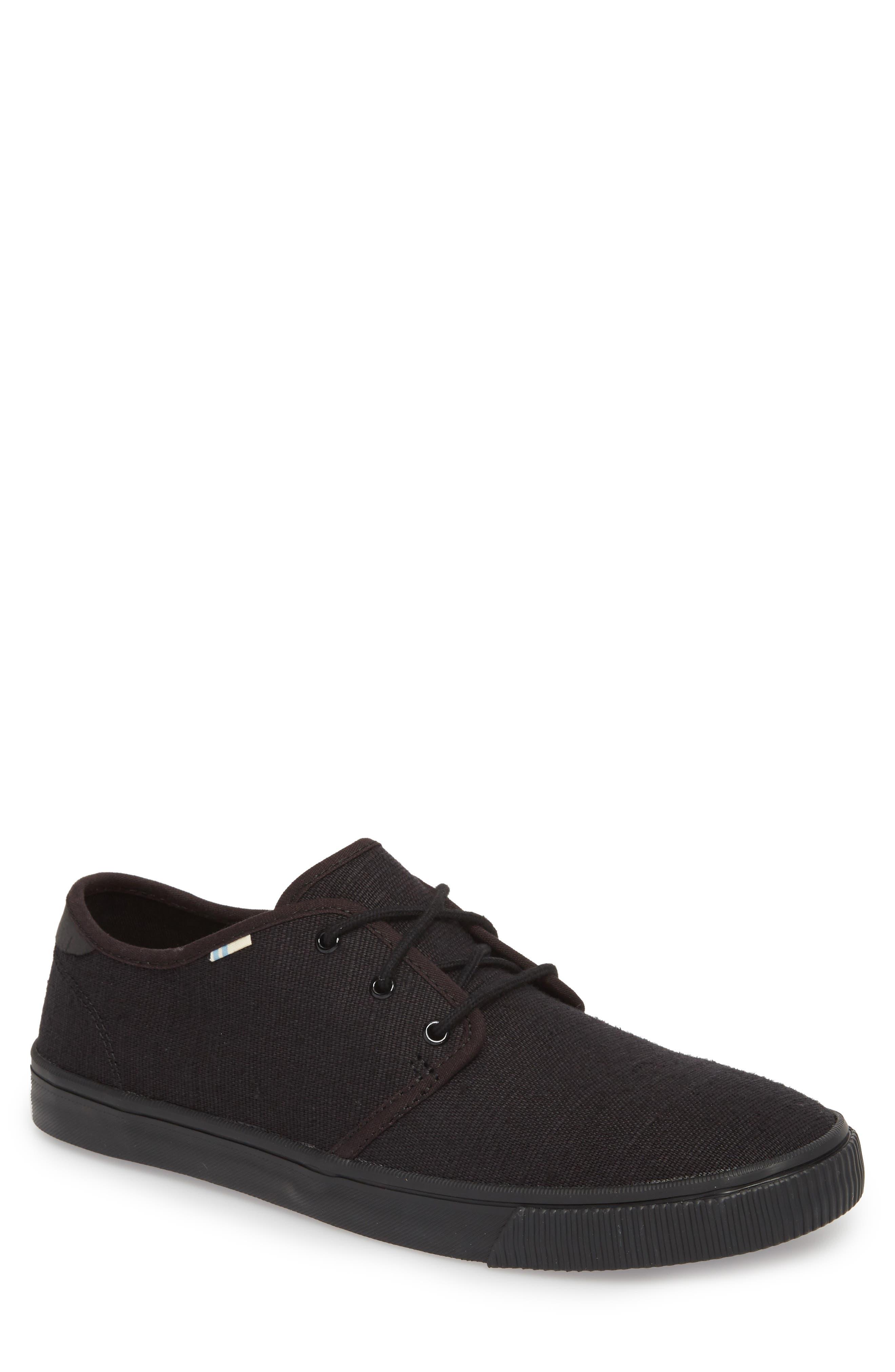 Carlo Low Top Sneaker,                         Main,                         color, BLACK/ BLACK HERITAGE CANVAS