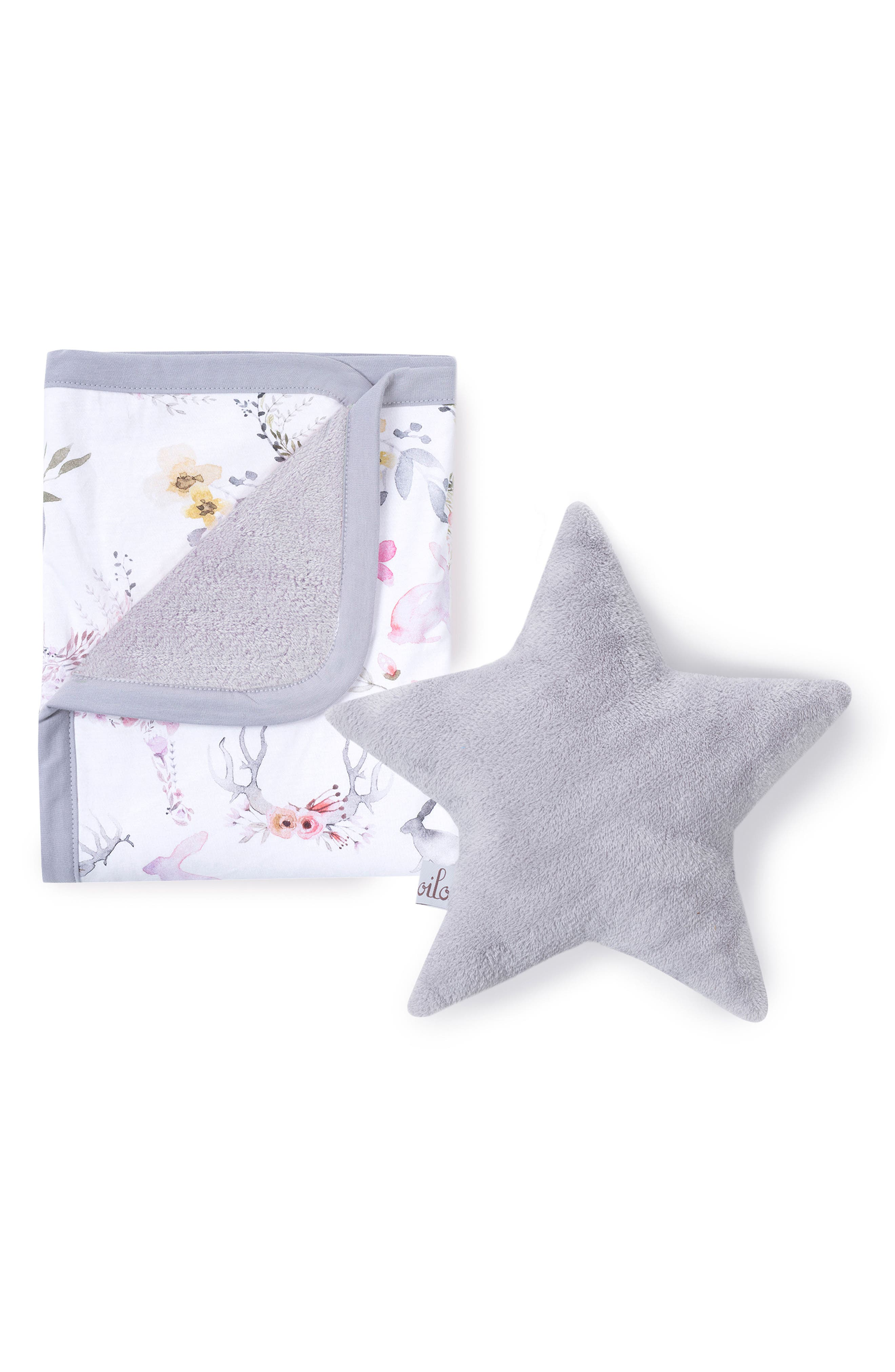 Fawn Cuddle Blanket & Star Pillow Set,                         Main,                         color, FAWN